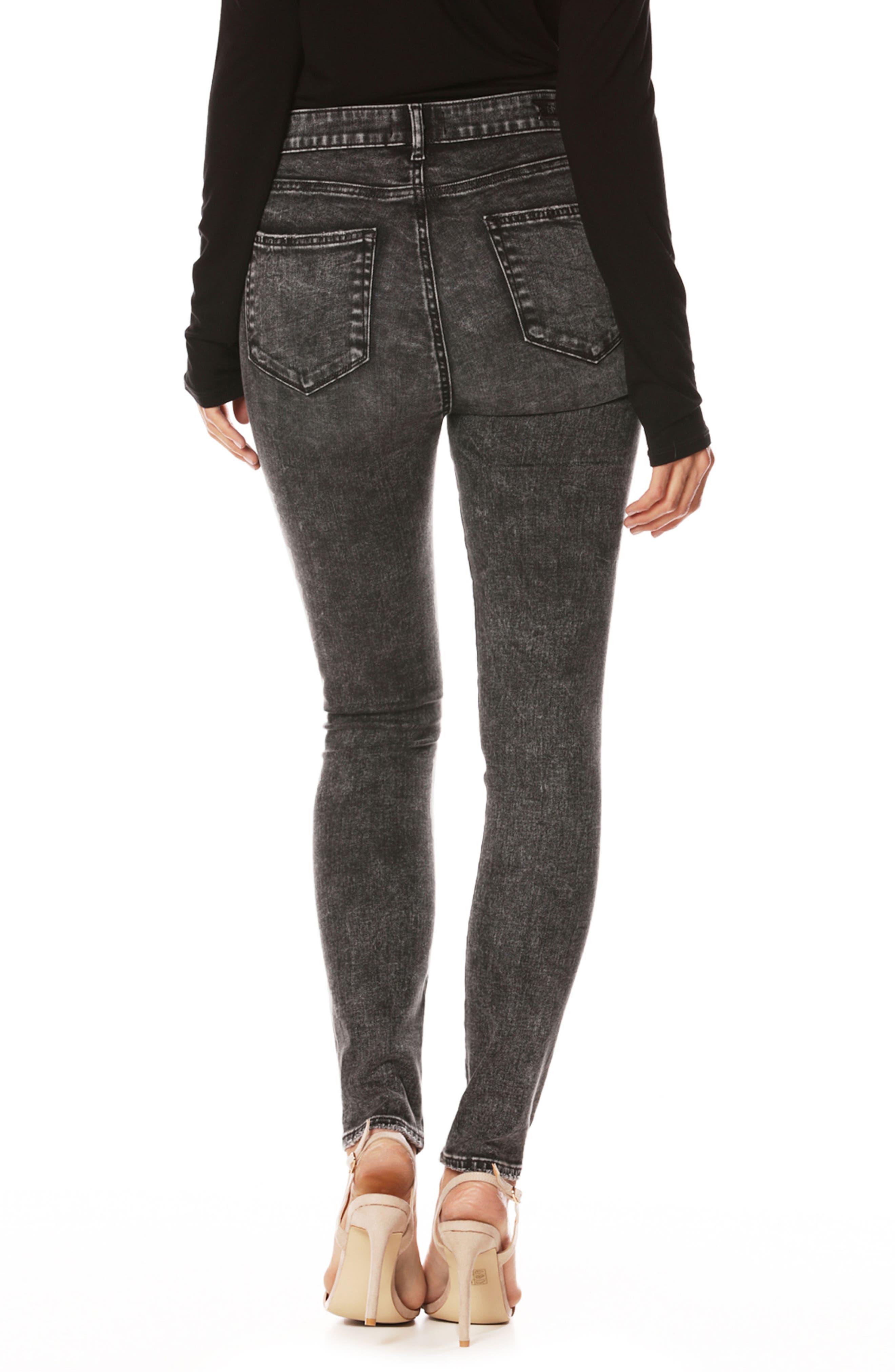 Margot High Waist Ultra Skinny Jeans,                             Alternate thumbnail 2, color,                             001