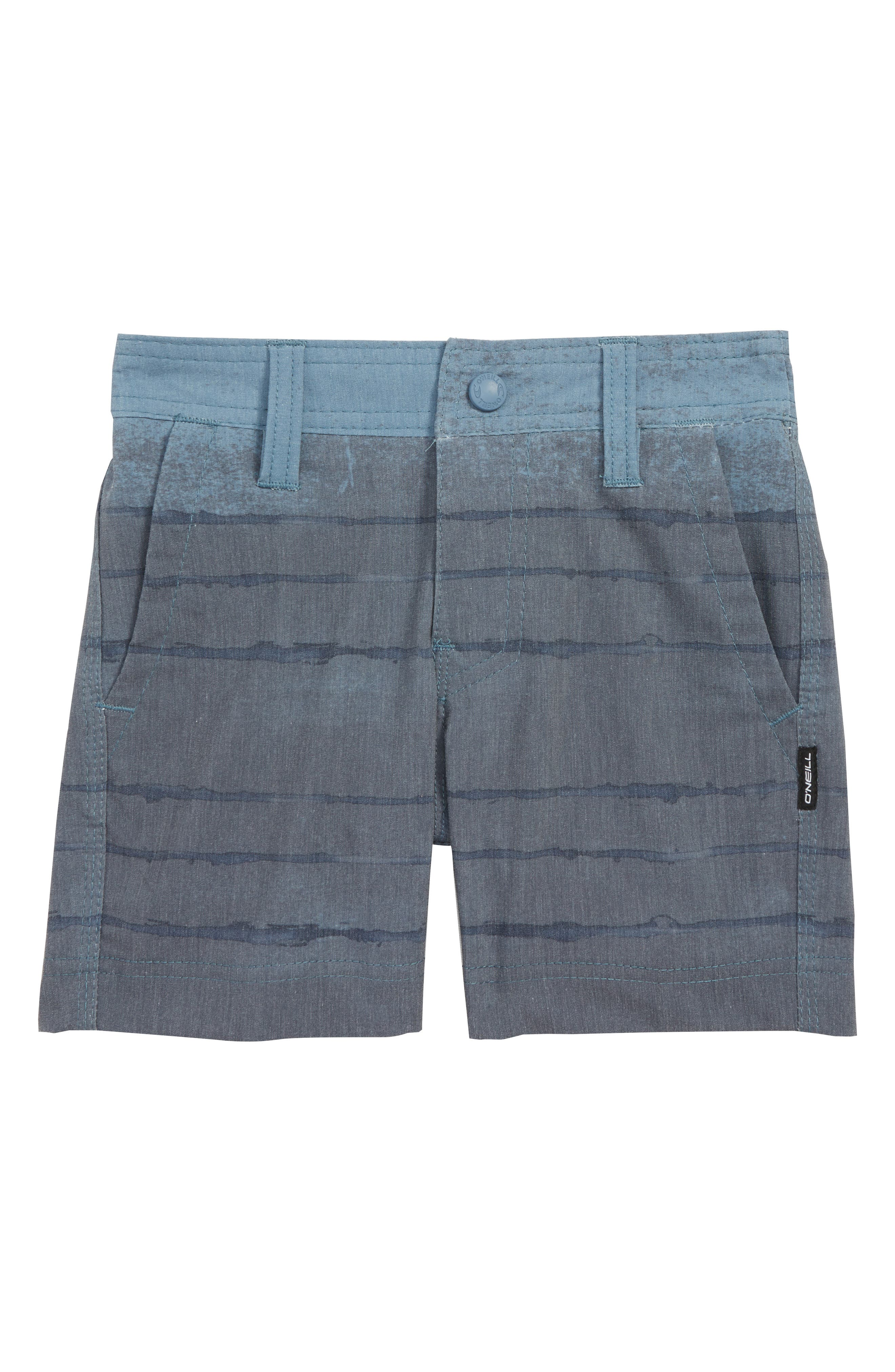 Tye Striper Hybrid Shorts,                             Main thumbnail 1, color,                             DUST BLUE