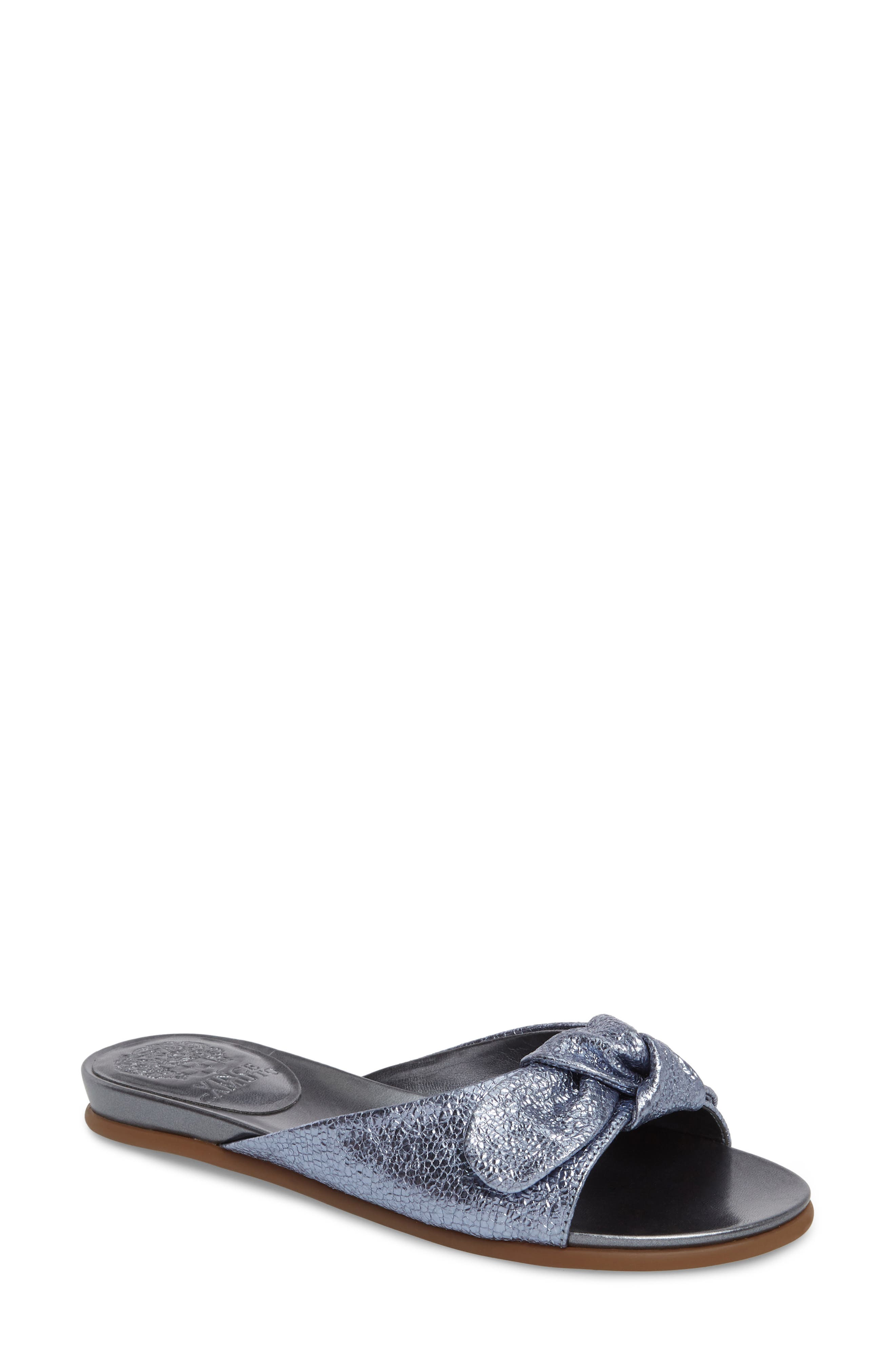 Ejella Slide Sandal,                         Main,                         color, COOL BLUE FABRIC