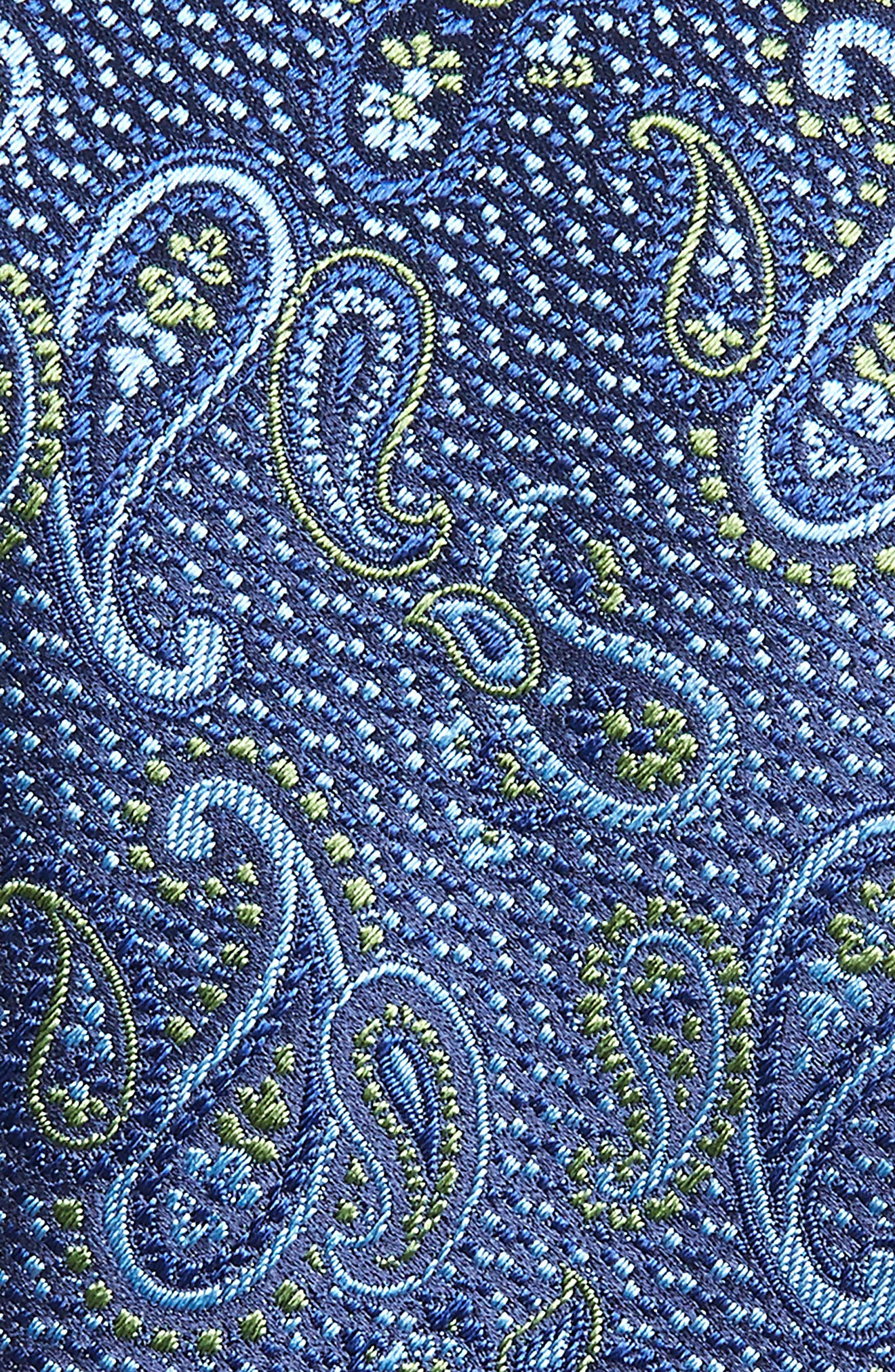 Paisley Silk Tie,                             Alternate thumbnail 2, color,                             OLIVE