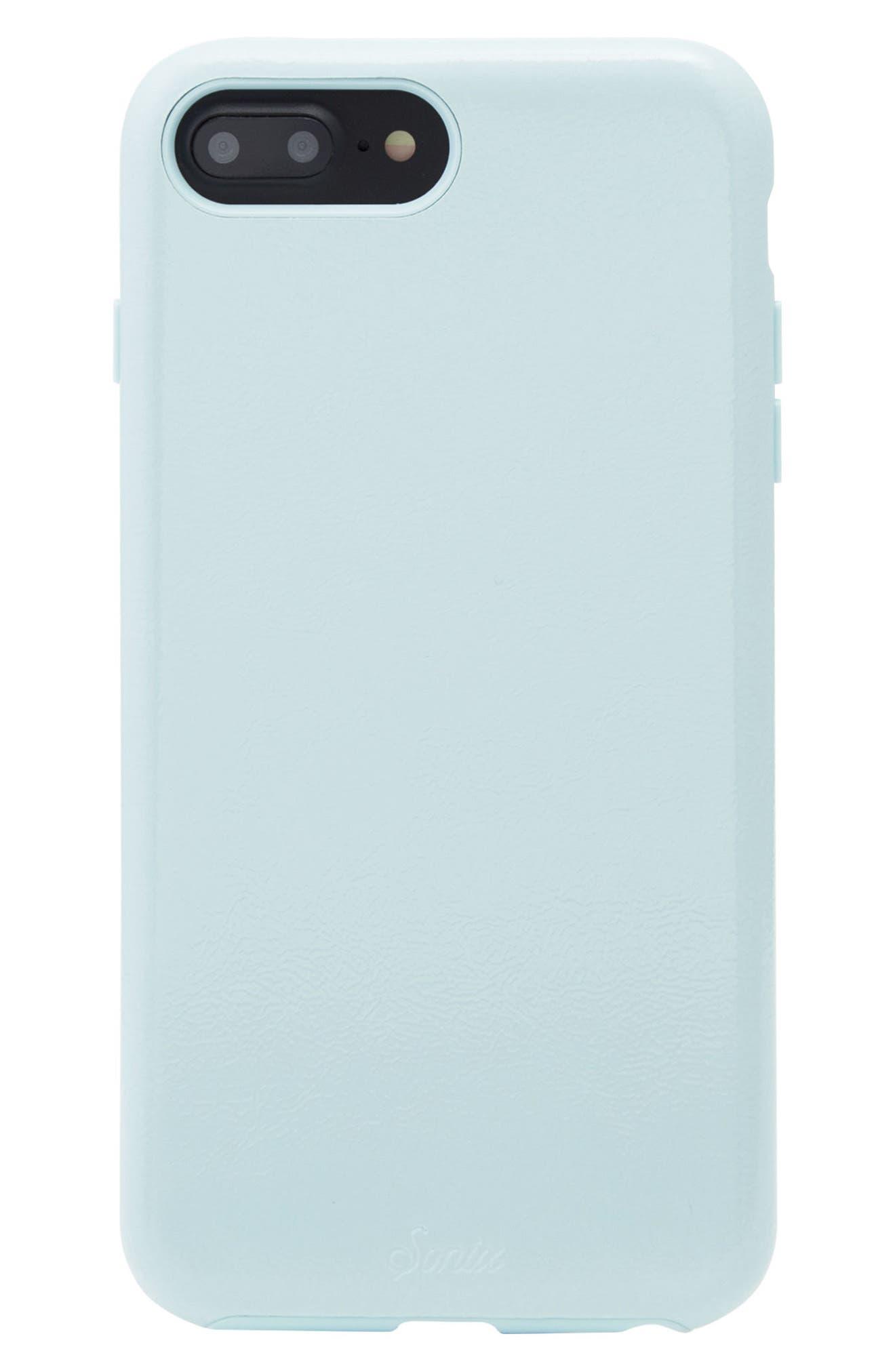 Cherry Faux Leather iPhone 6/6s/7/8 Plus Case,                             Main thumbnail 3, color,