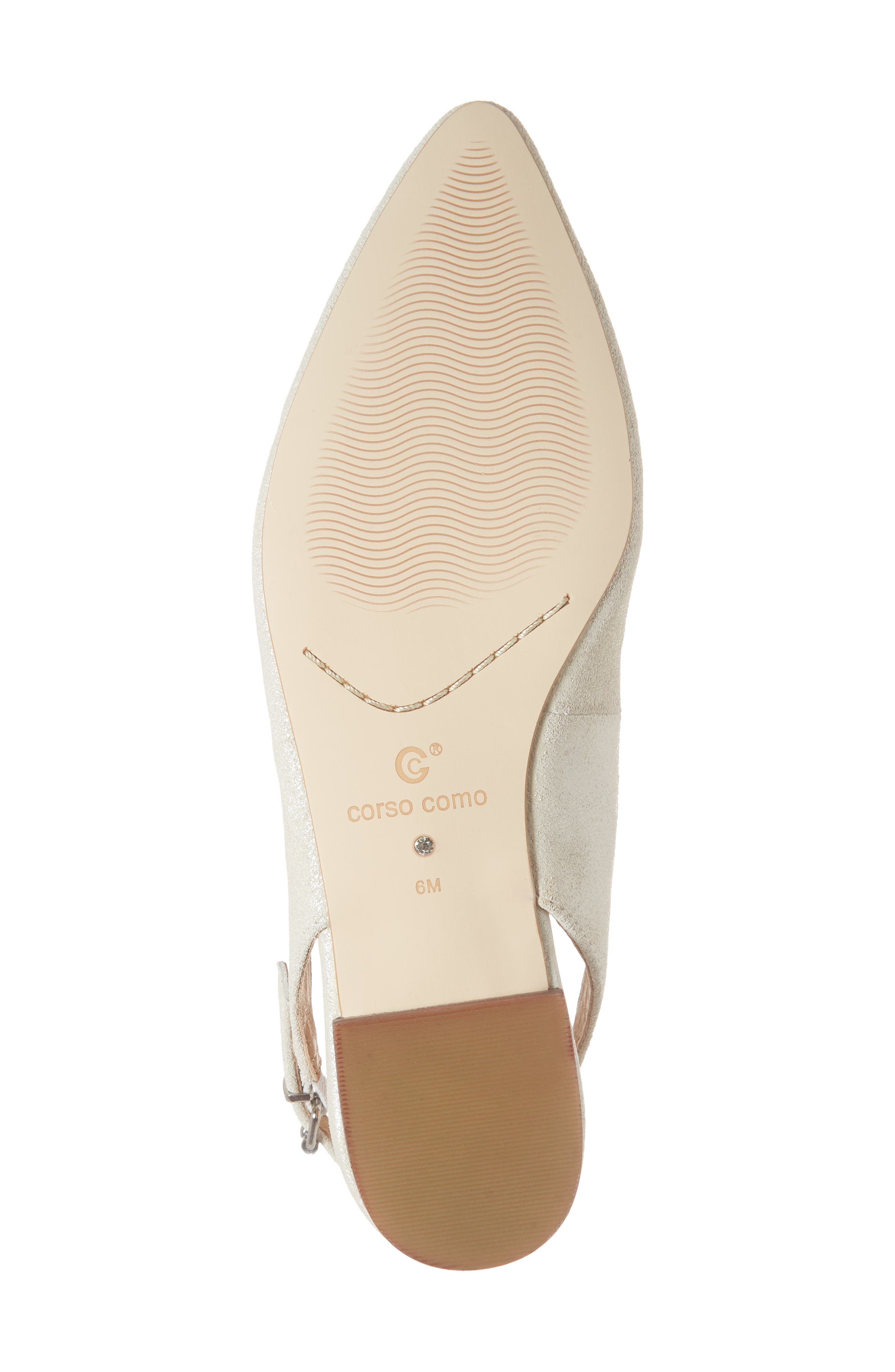 Jackey Slingback Flat,                             Alternate thumbnail 6, color,                             PLATINUM LEATHER
