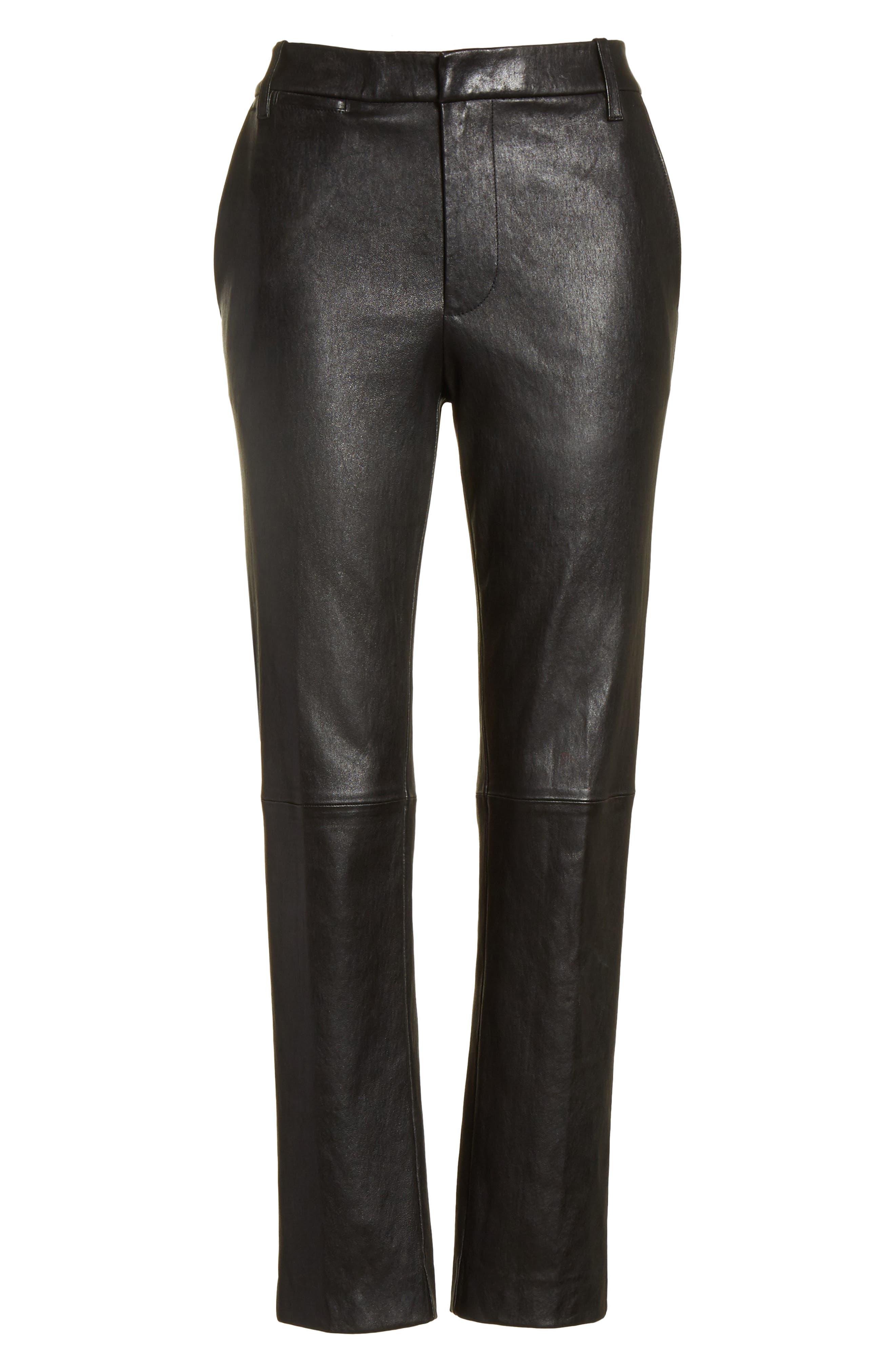 Leather Pants,                             Alternate thumbnail 6, color,