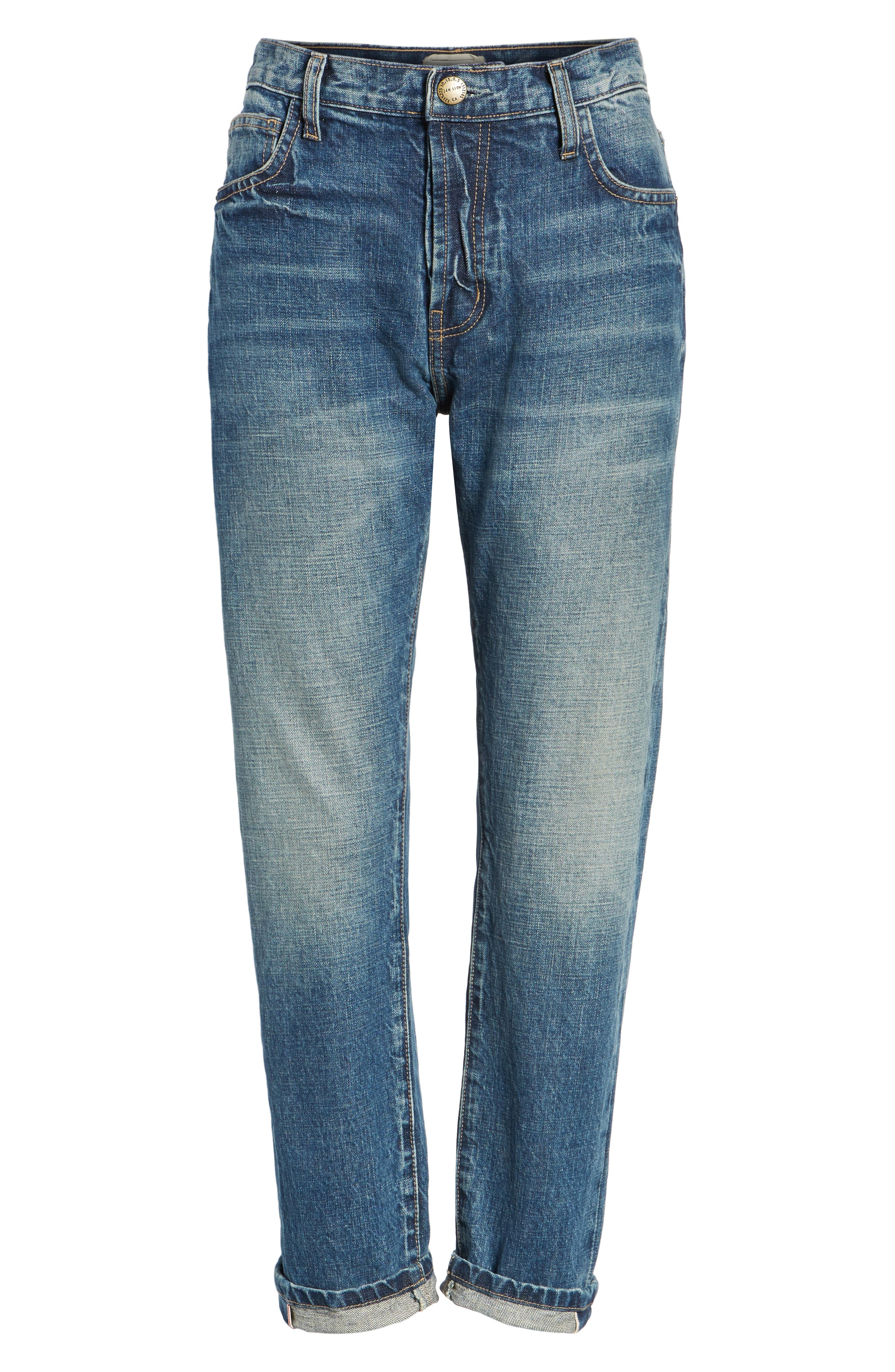 The Selvedge High Waist Crop Jeans,                             Alternate thumbnail 6, color,                             404