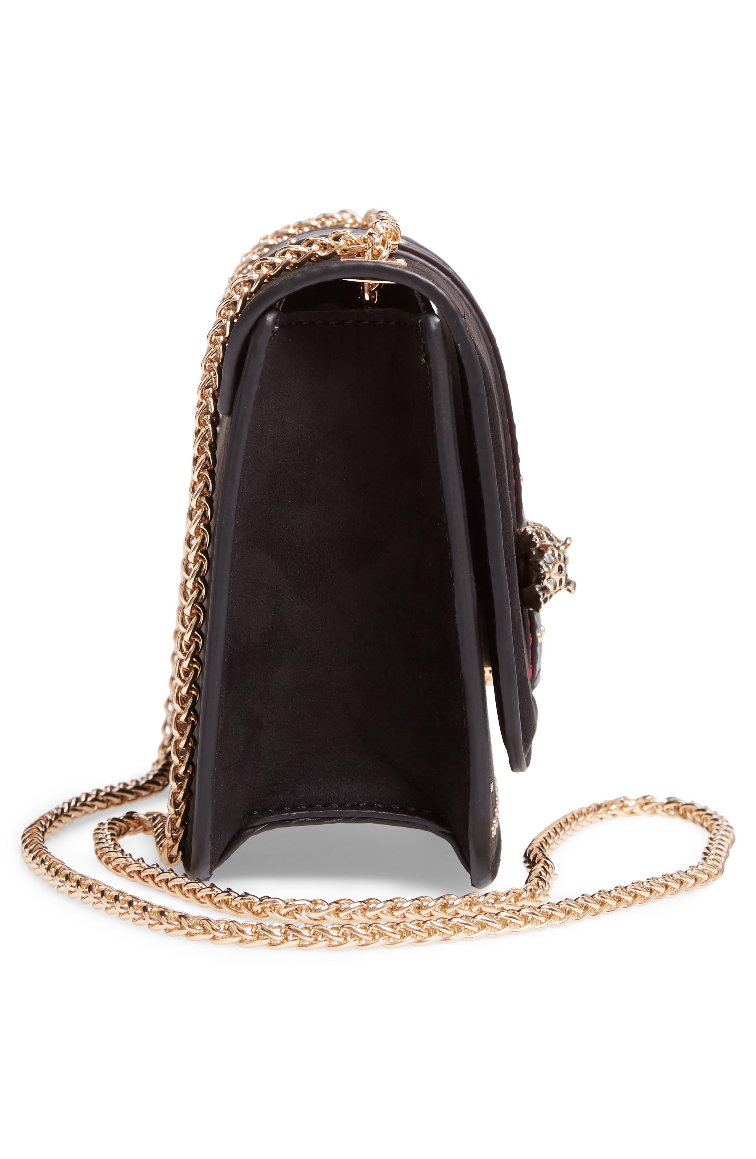 Panther Crossbody Bag,                             Alternate thumbnail 5, color,                             BLACK