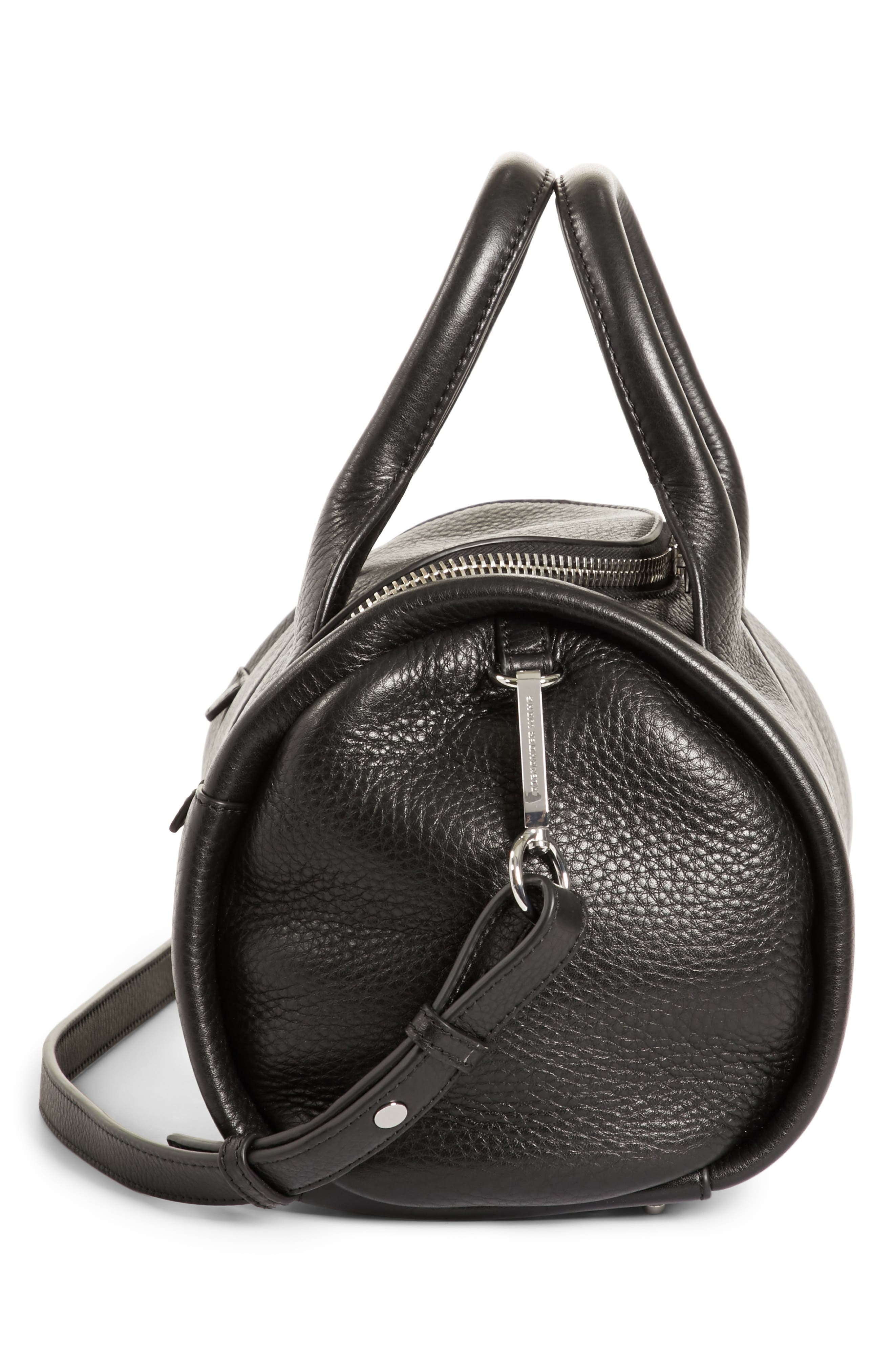 Rockie - Nickel Leather Satchel,                             Alternate thumbnail 5, color,                             001