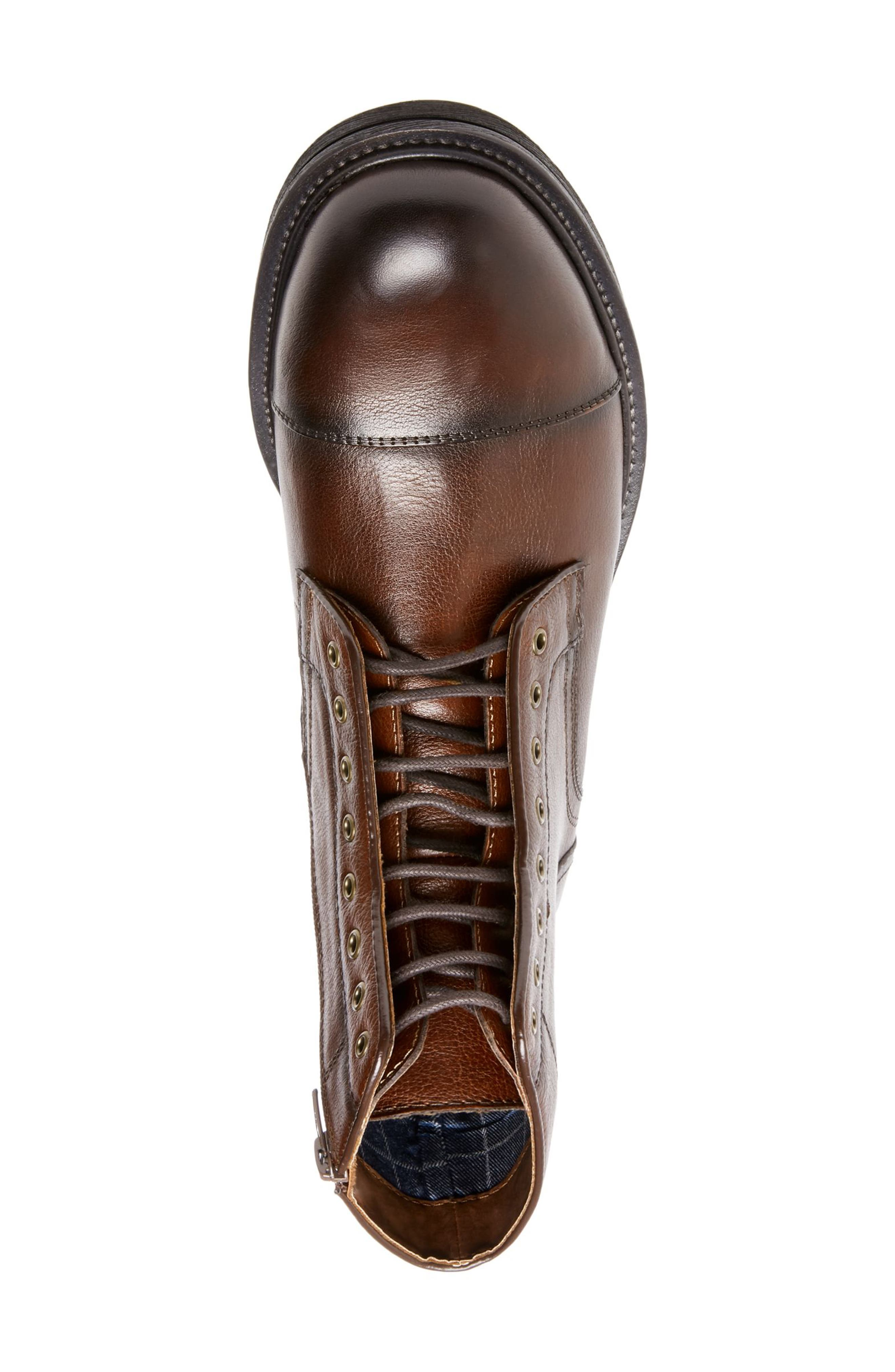 Chariot Boot,                             Alternate thumbnail 4, color,                             COGNAC LEATHER