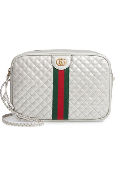 67eeef11f24b Gucci Small Quilted Metallic Leather Shoulder Bag