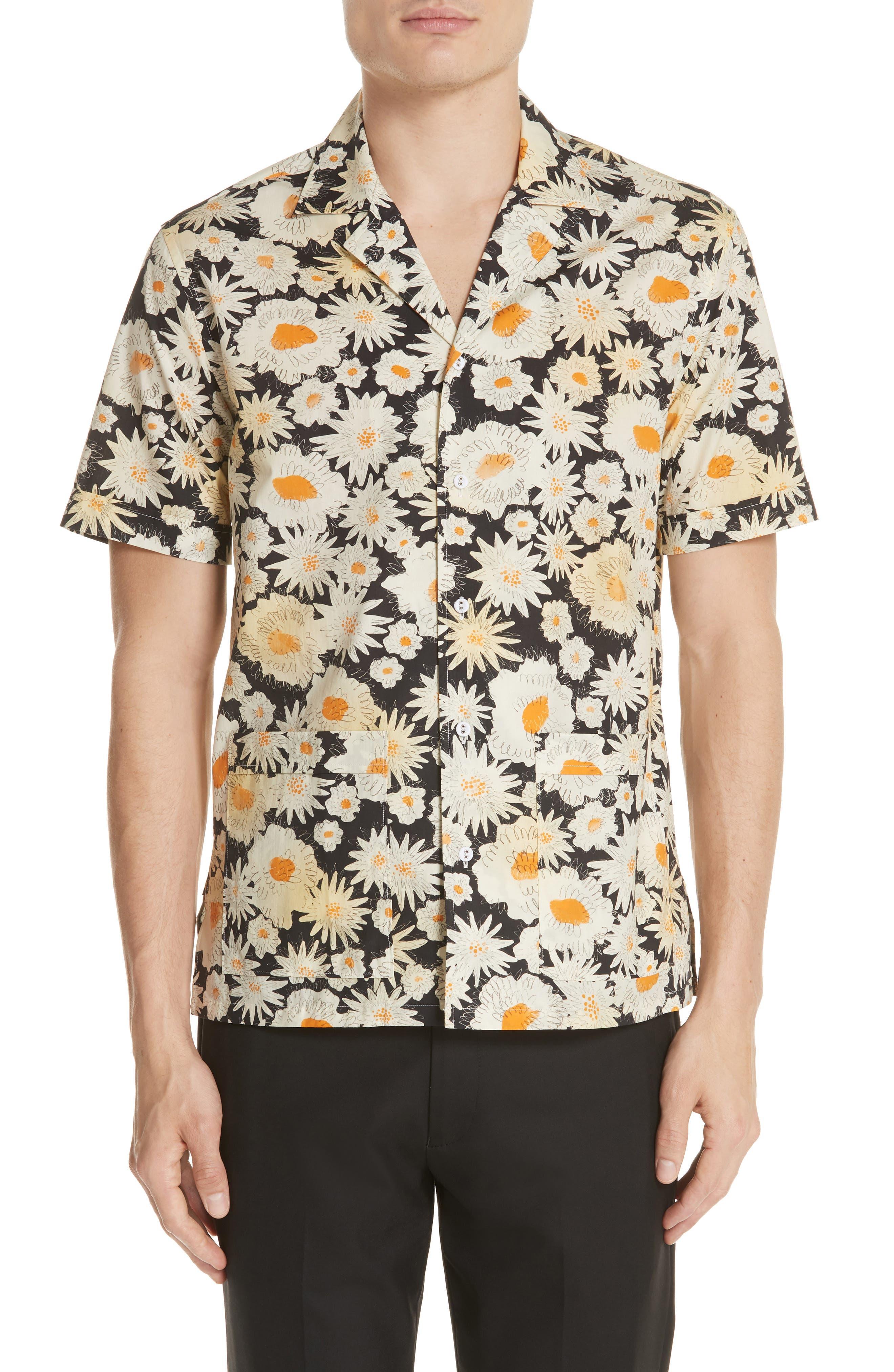 Jude Floral Print Shirt,                         Main,                         color, 001