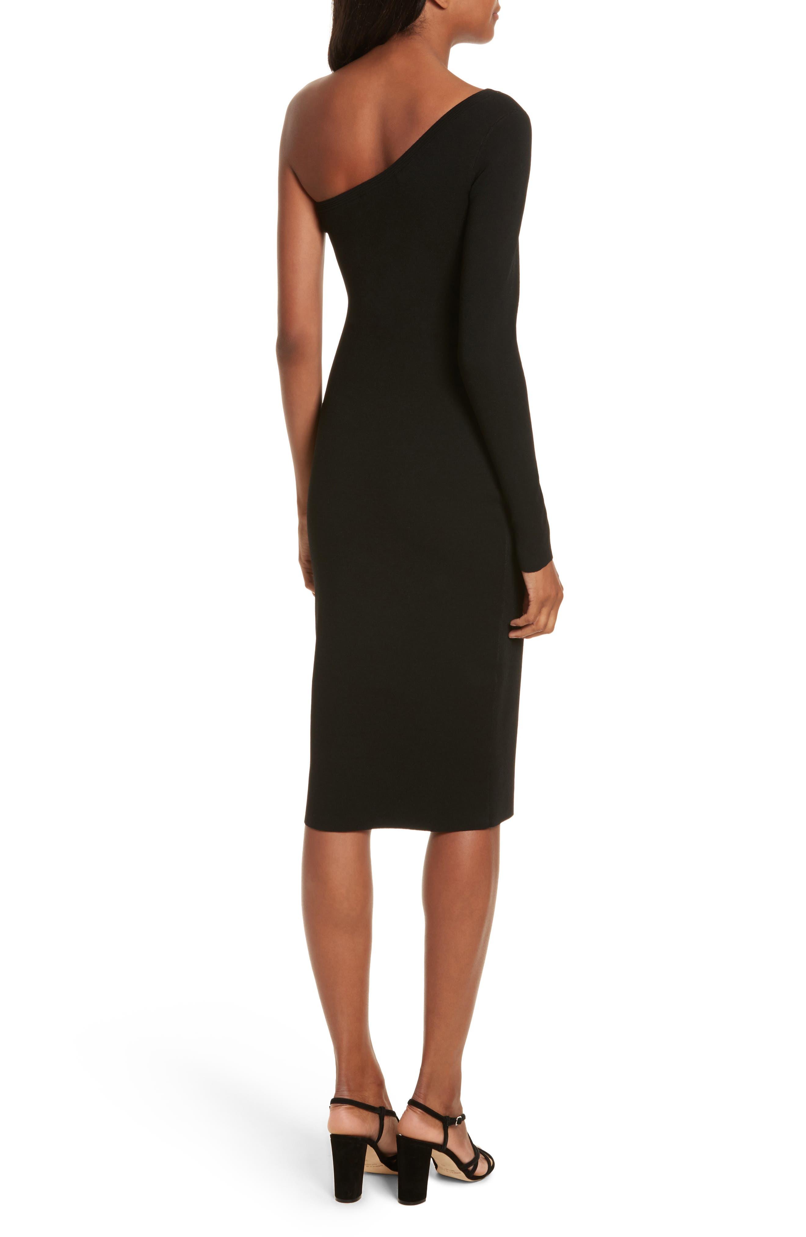 Diane von Furstenberg Knit One-Shoulder Midi Dress,                             Alternate thumbnail 4, color,