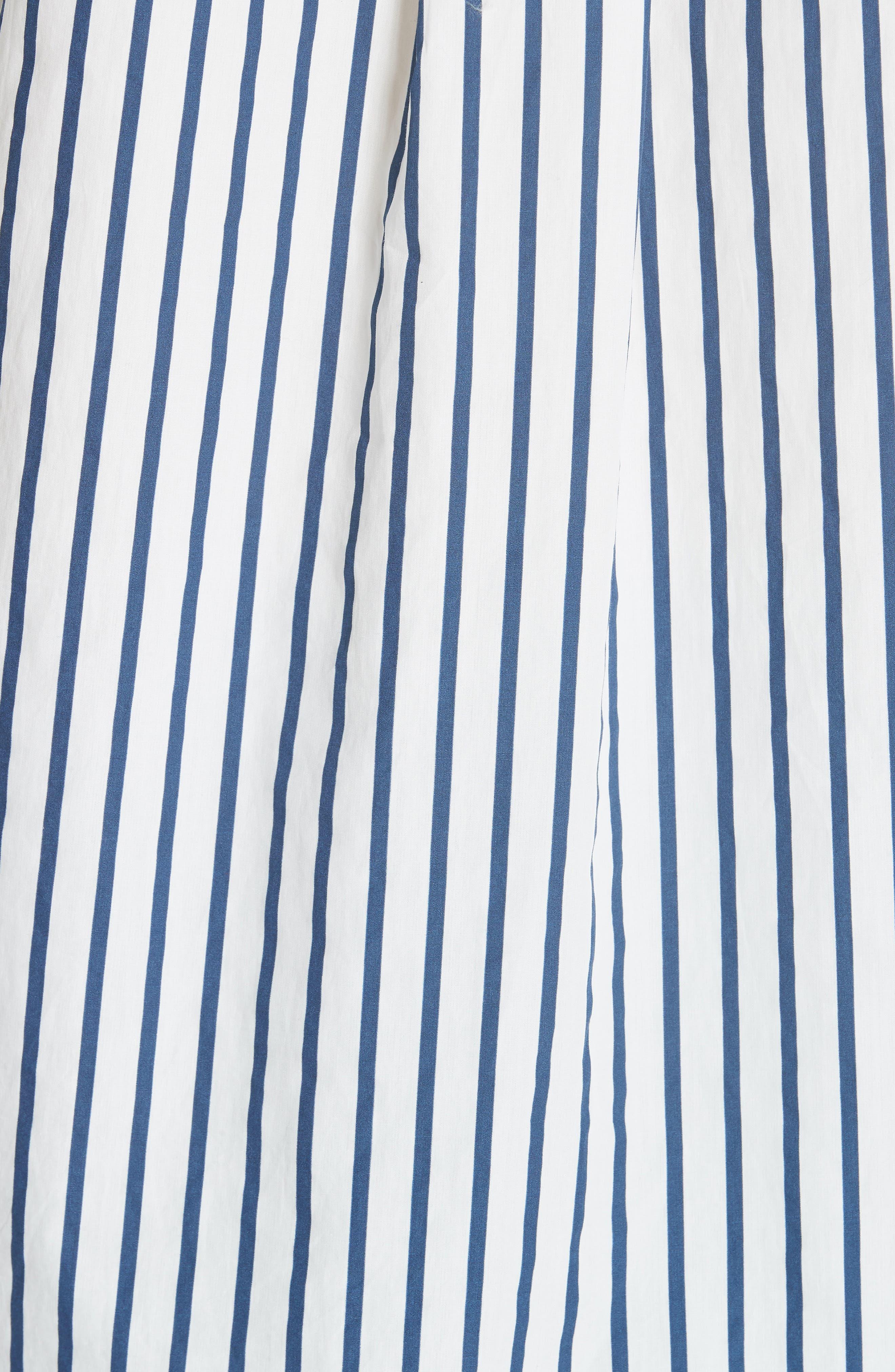 Paulette Short Sleeve Cotton Top,                             Alternate thumbnail 5, color,                             ECLIPSE/ BRIGHT WHITE