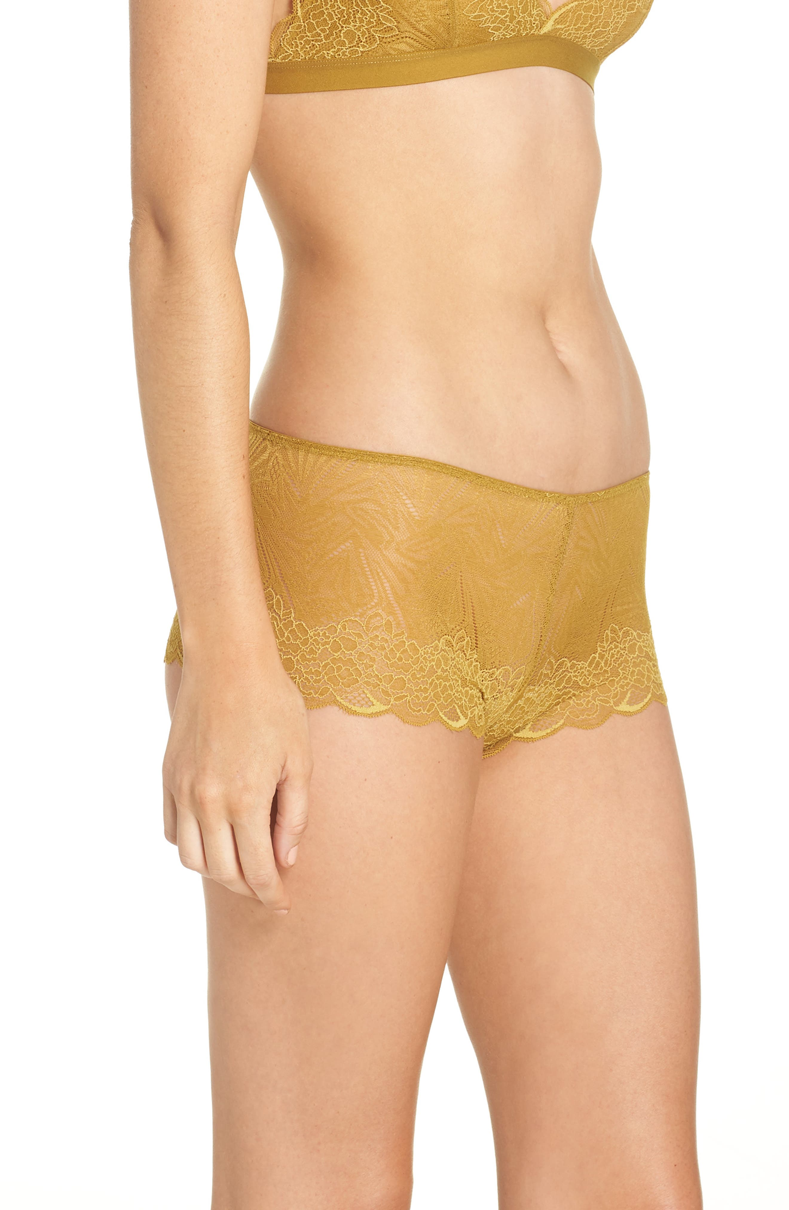 Lace Boyshorts,                             Alternate thumbnail 3, color,                             BRONZED AMBAR