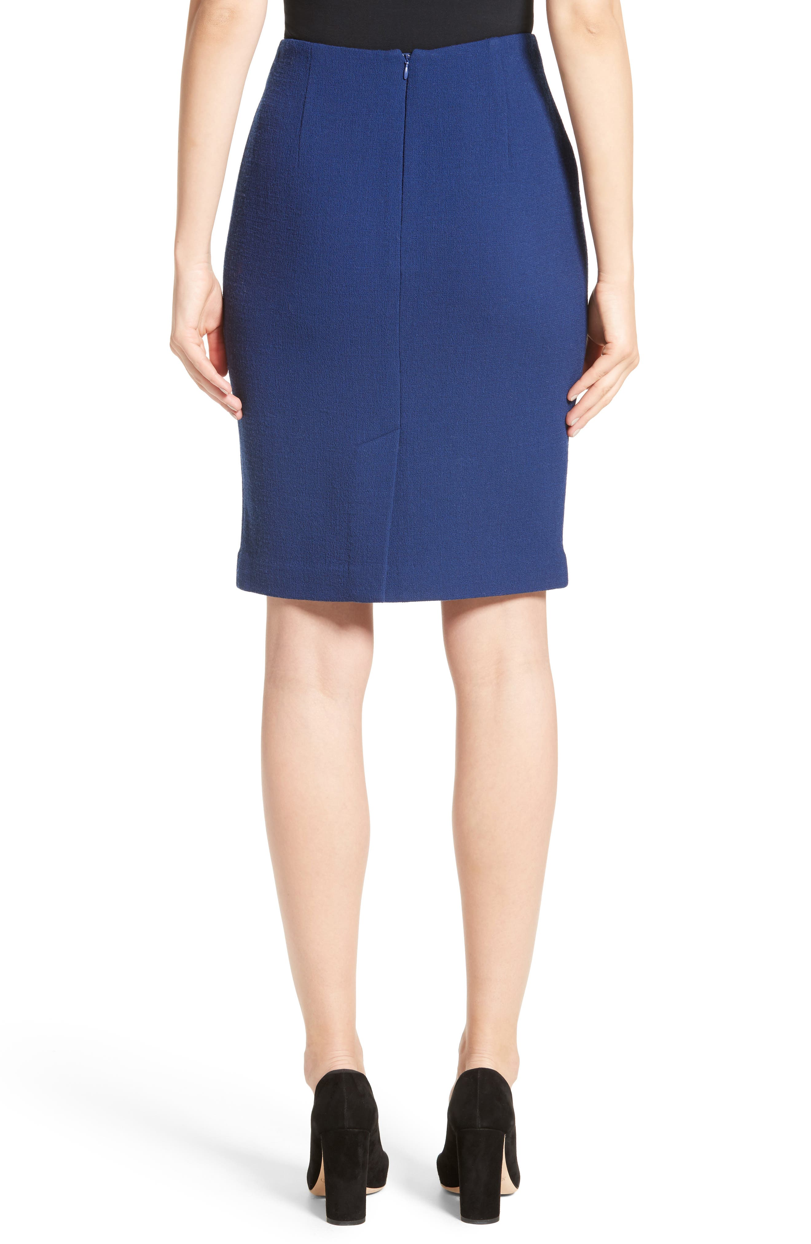 Double Crepe Pencil Skirt,                             Alternate thumbnail 2, color,                             400