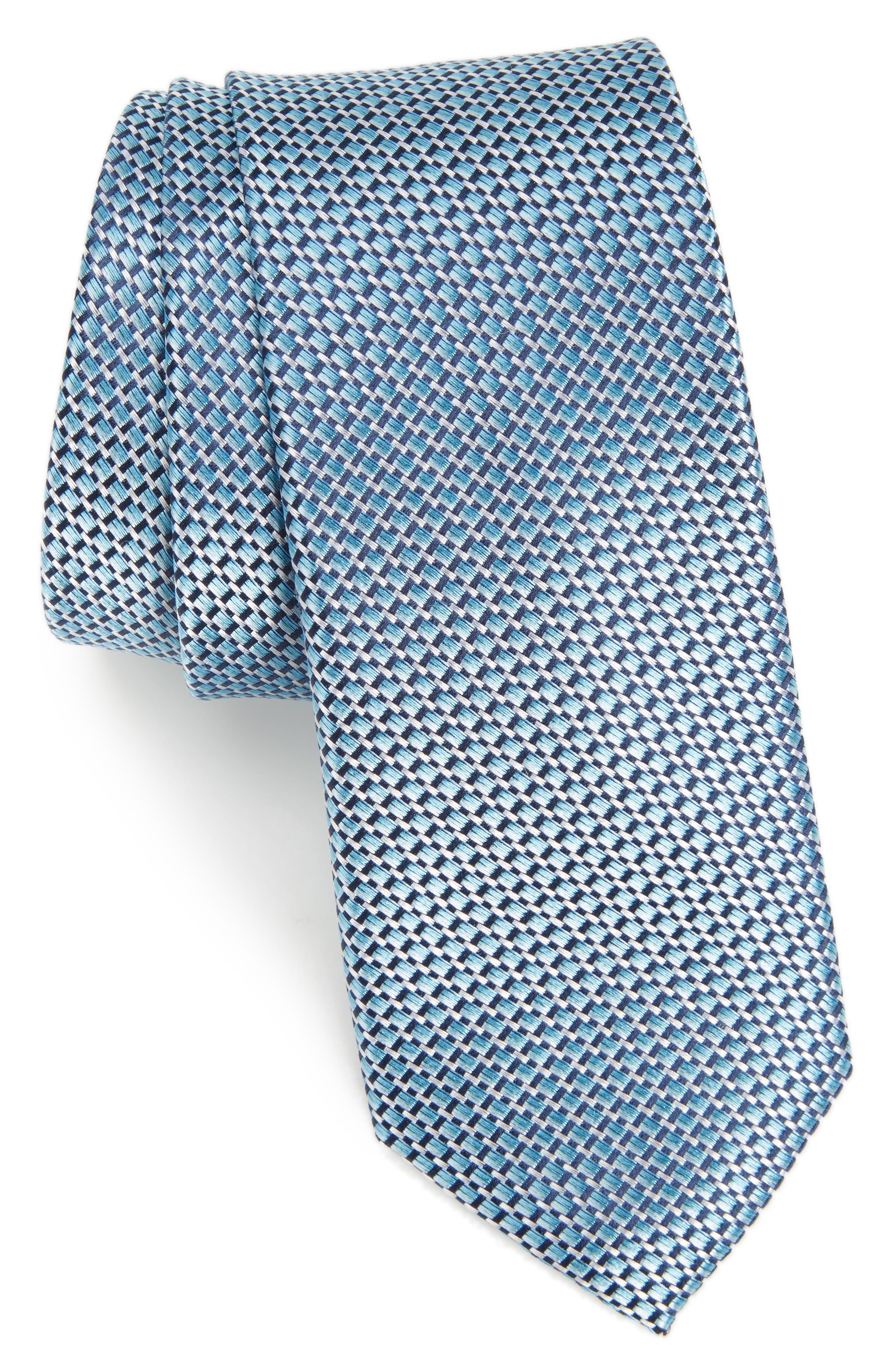 Iris Solid Silk Skinny Tie,                             Main thumbnail 3, color,