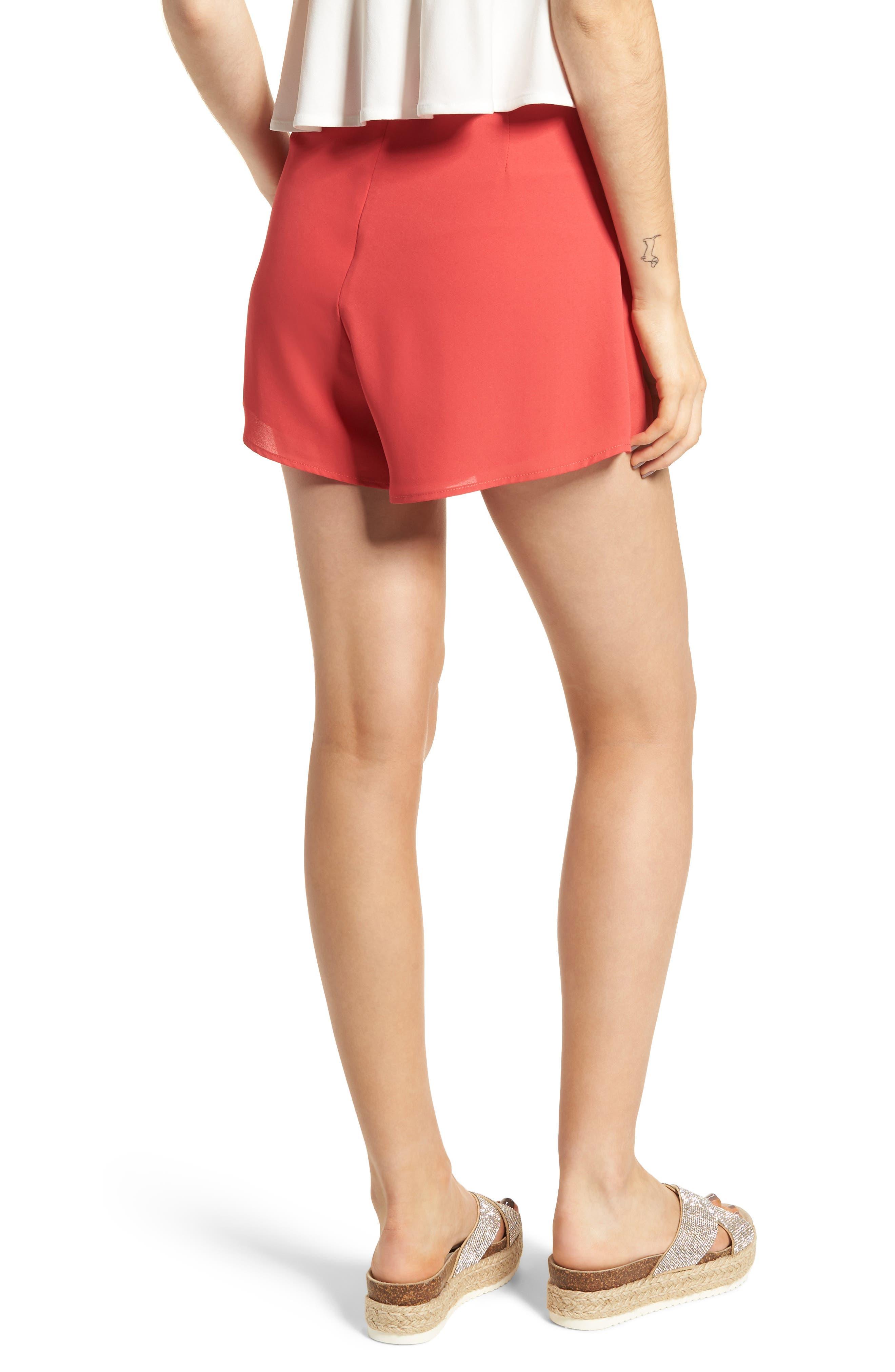 Pleat Front High Waist Shorts,                             Alternate thumbnail 6, color,