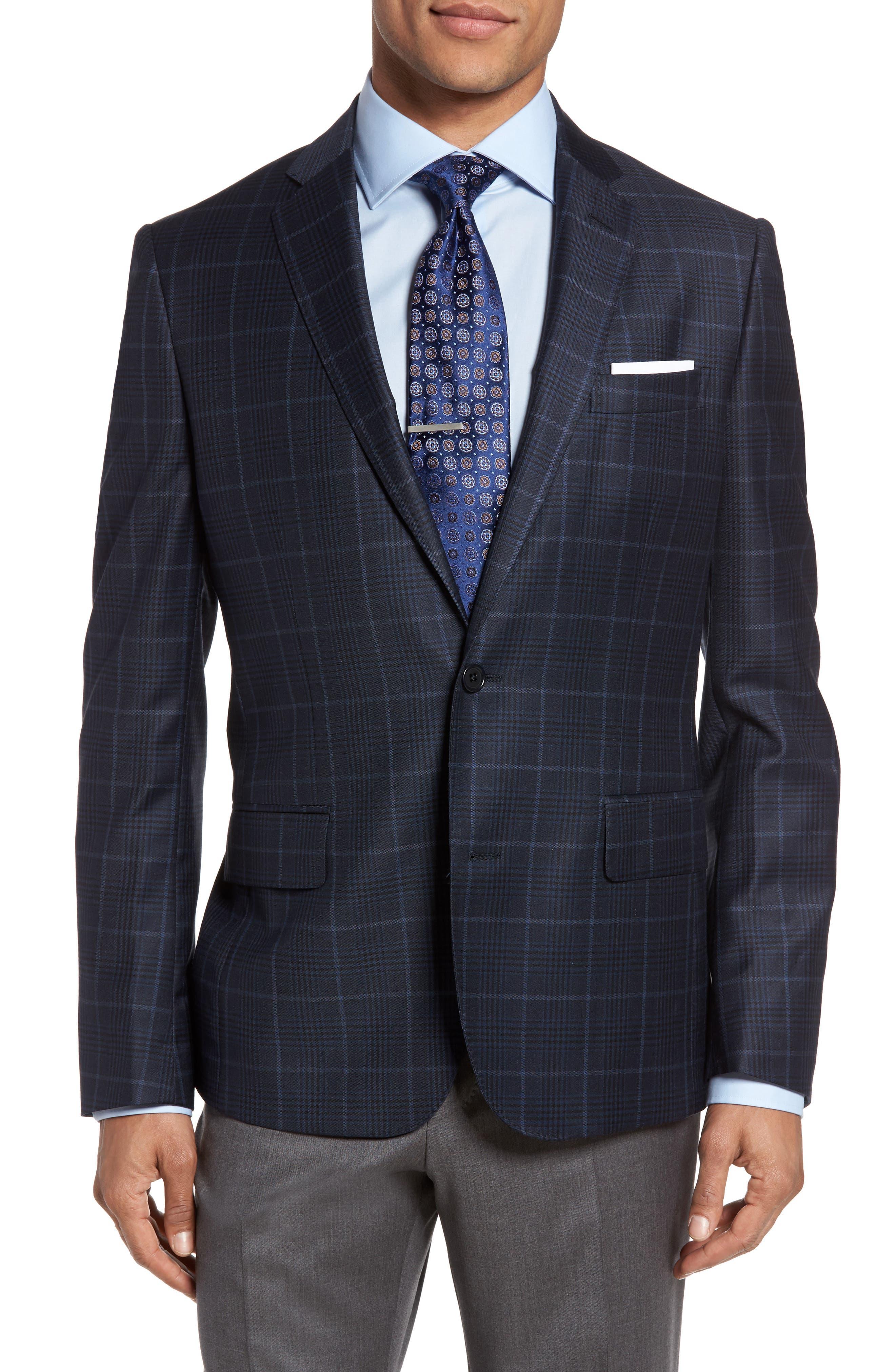 Classic Fit Plaid Wool Sport Coat,                         Main,                         color, 410