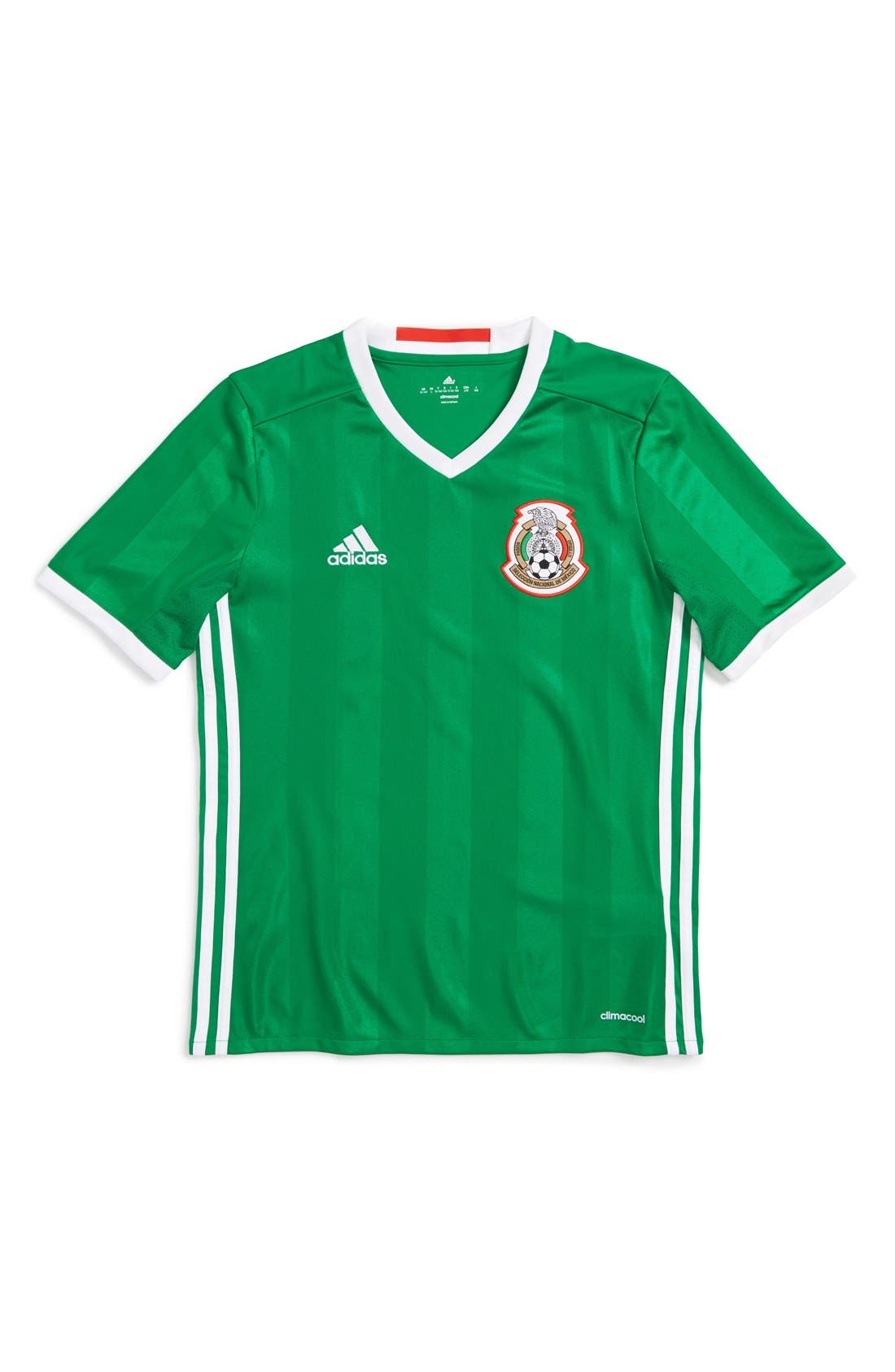ADIDAS 'Mexico - Home' Replica Soccer Jersey, Main, color, 360