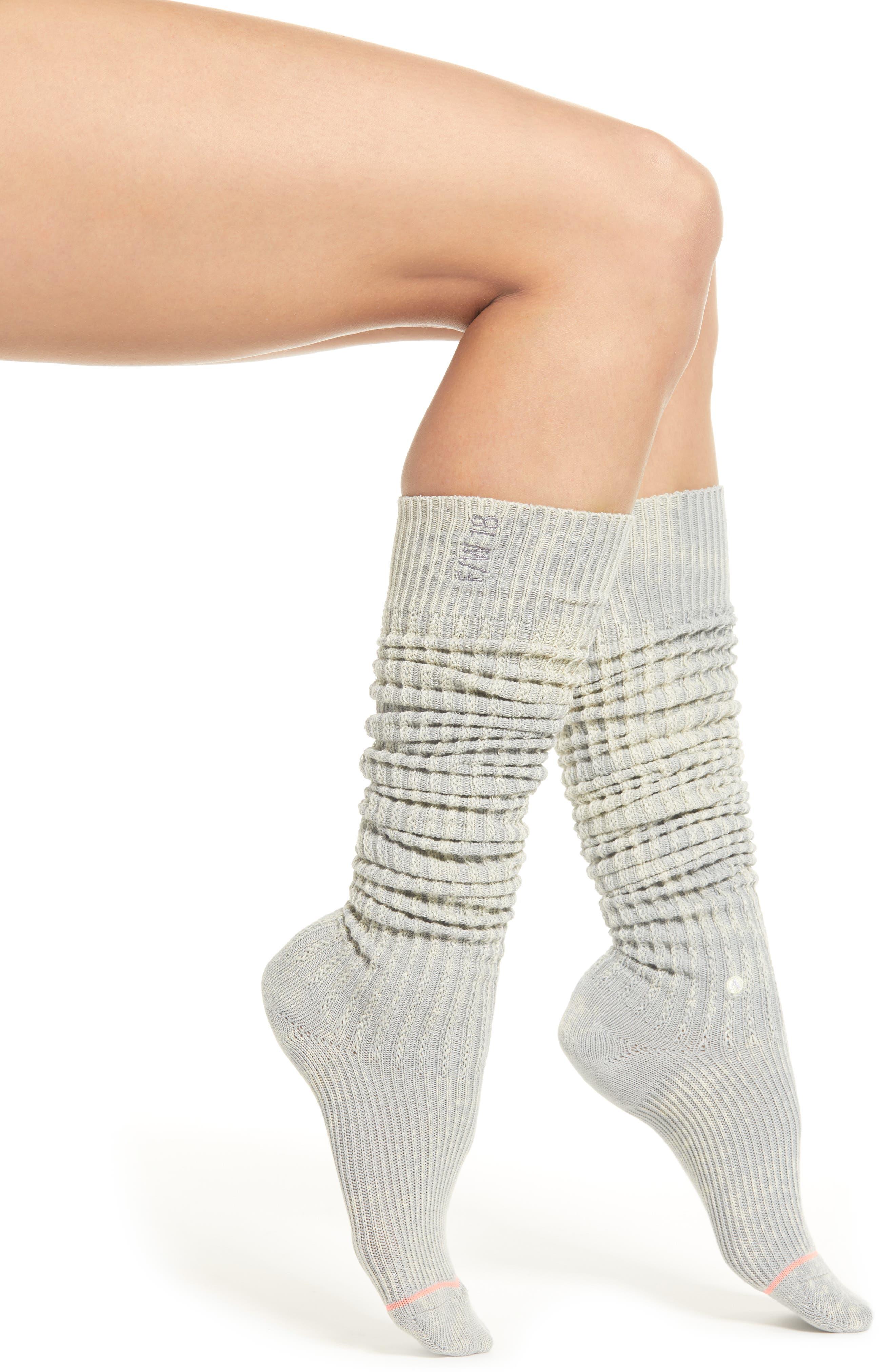 STANCE School Slouch Boot Socks in Grey