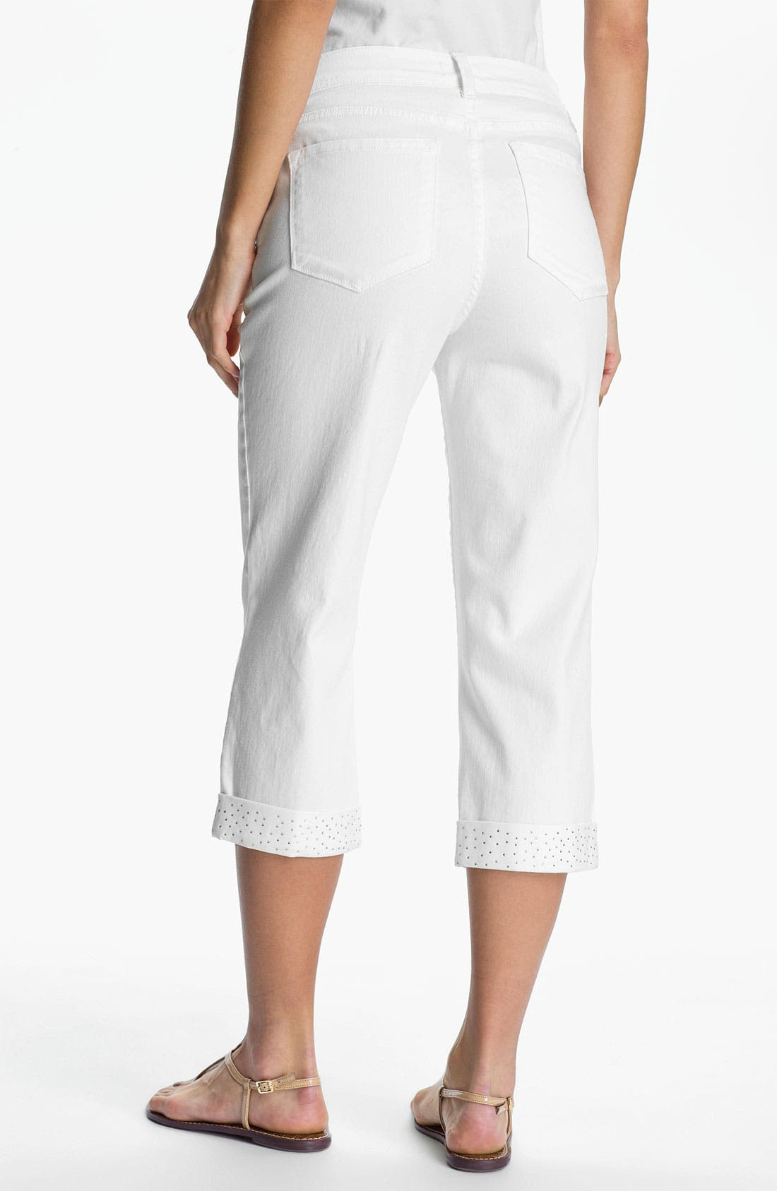 'Alyssia' Embellished Crop Jeans,                             Alternate thumbnail 2, color,                             103