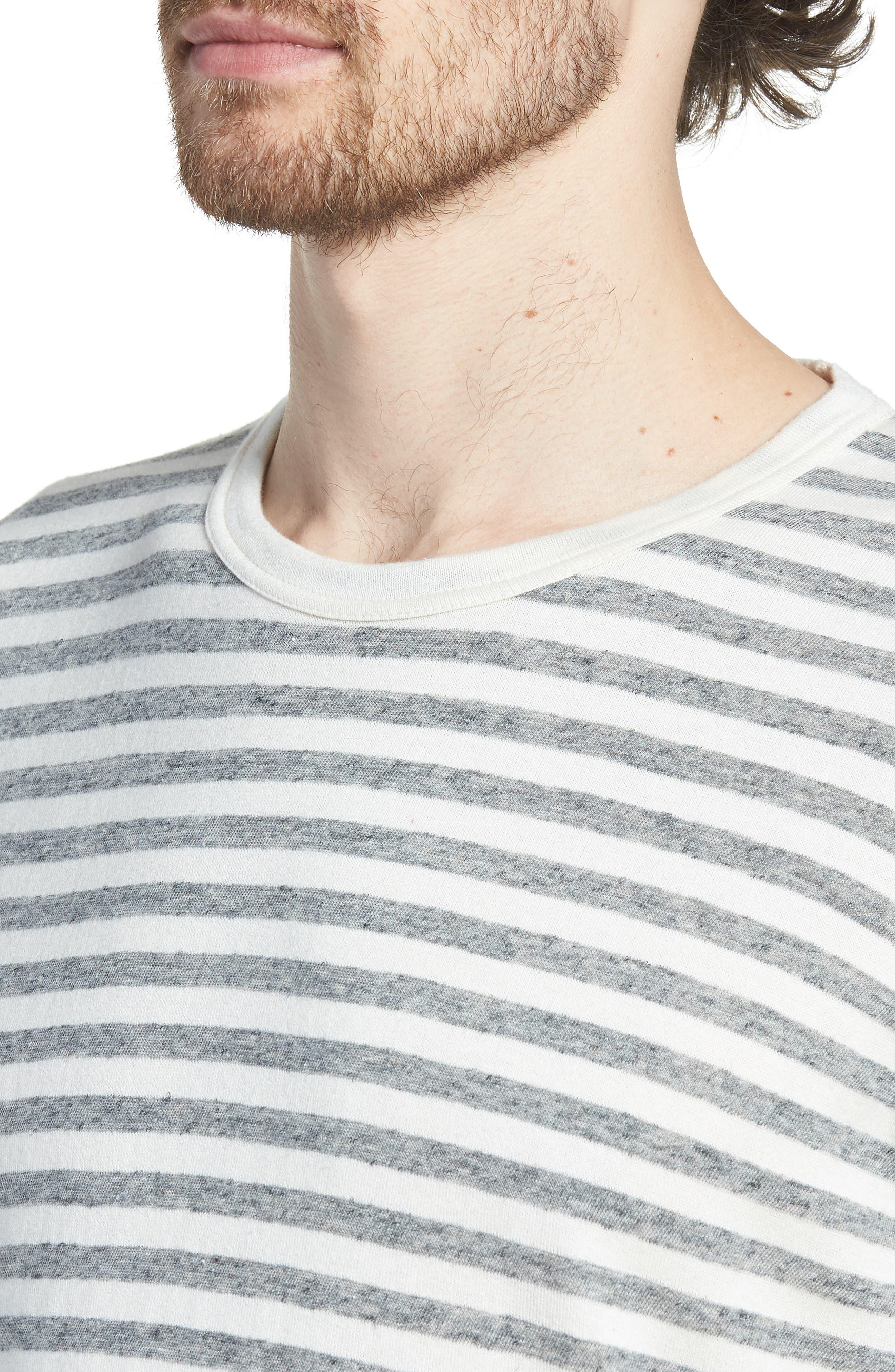 Stripe Long Sleeve Shirt,                             Alternate thumbnail 4, color,