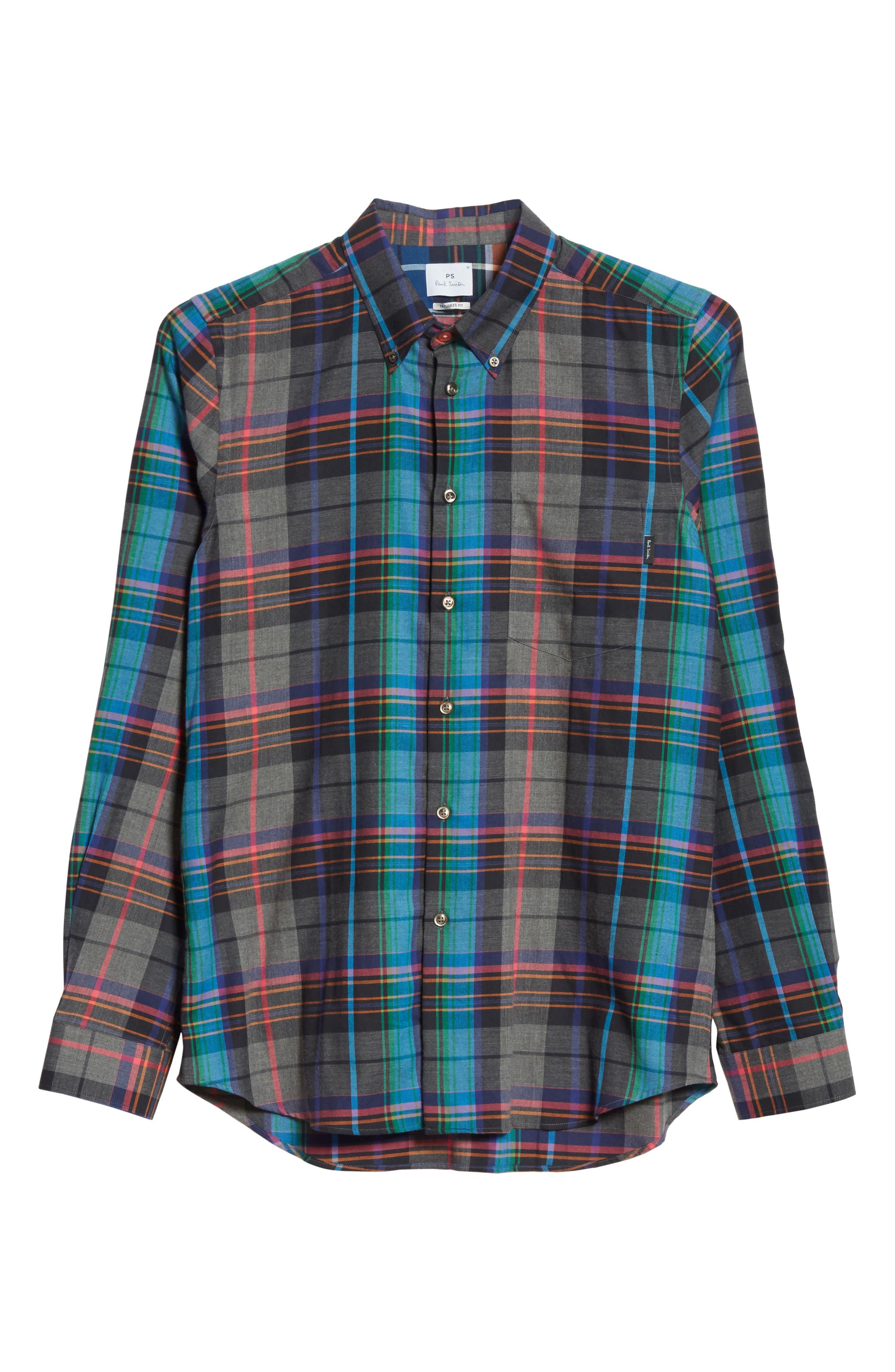 Plaid Woven Shirt,                             Alternate thumbnail 6, color,                             037