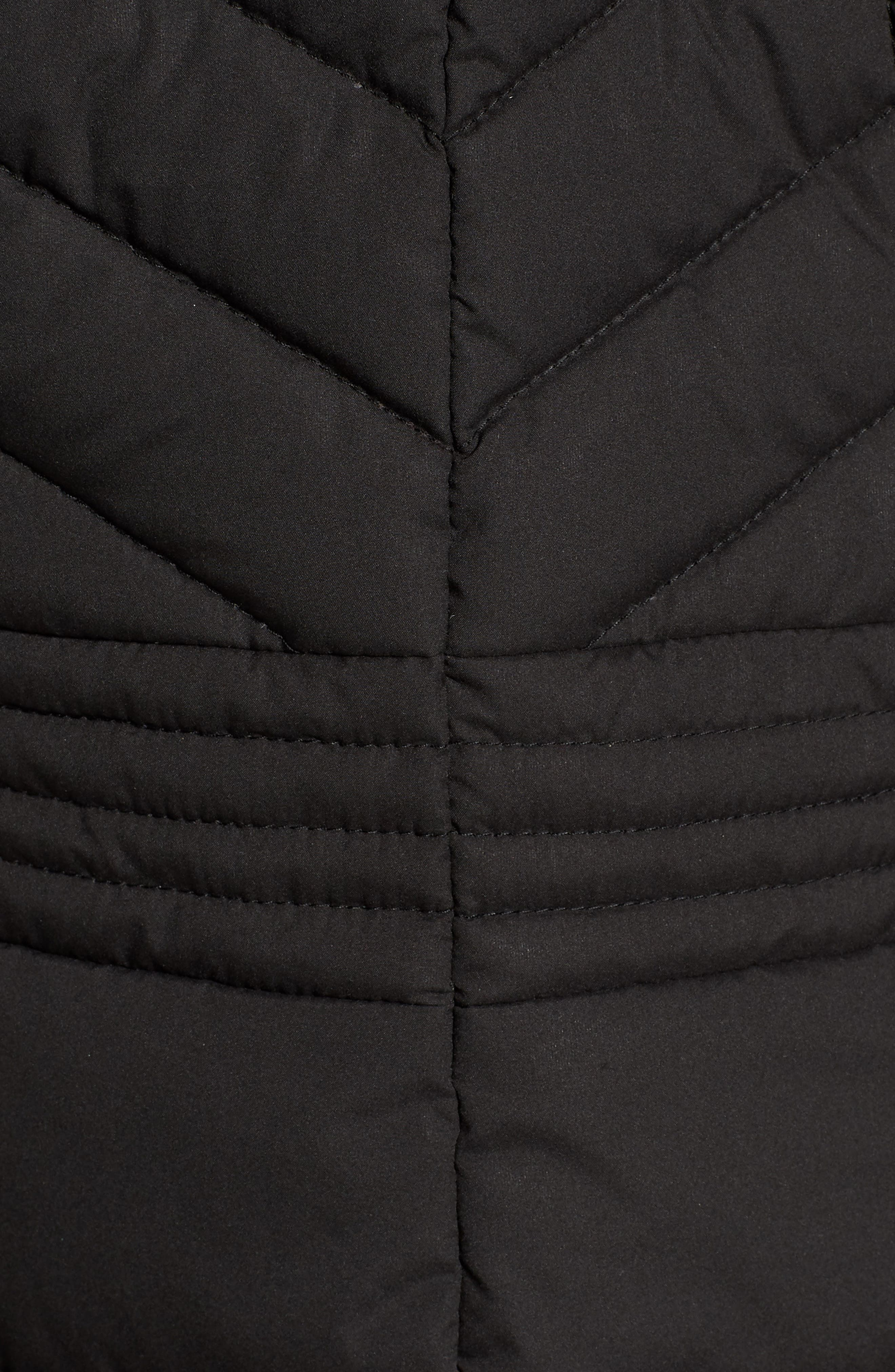 Stretch Quilted Walker Coat,                             Alternate thumbnail 7, color,                             001