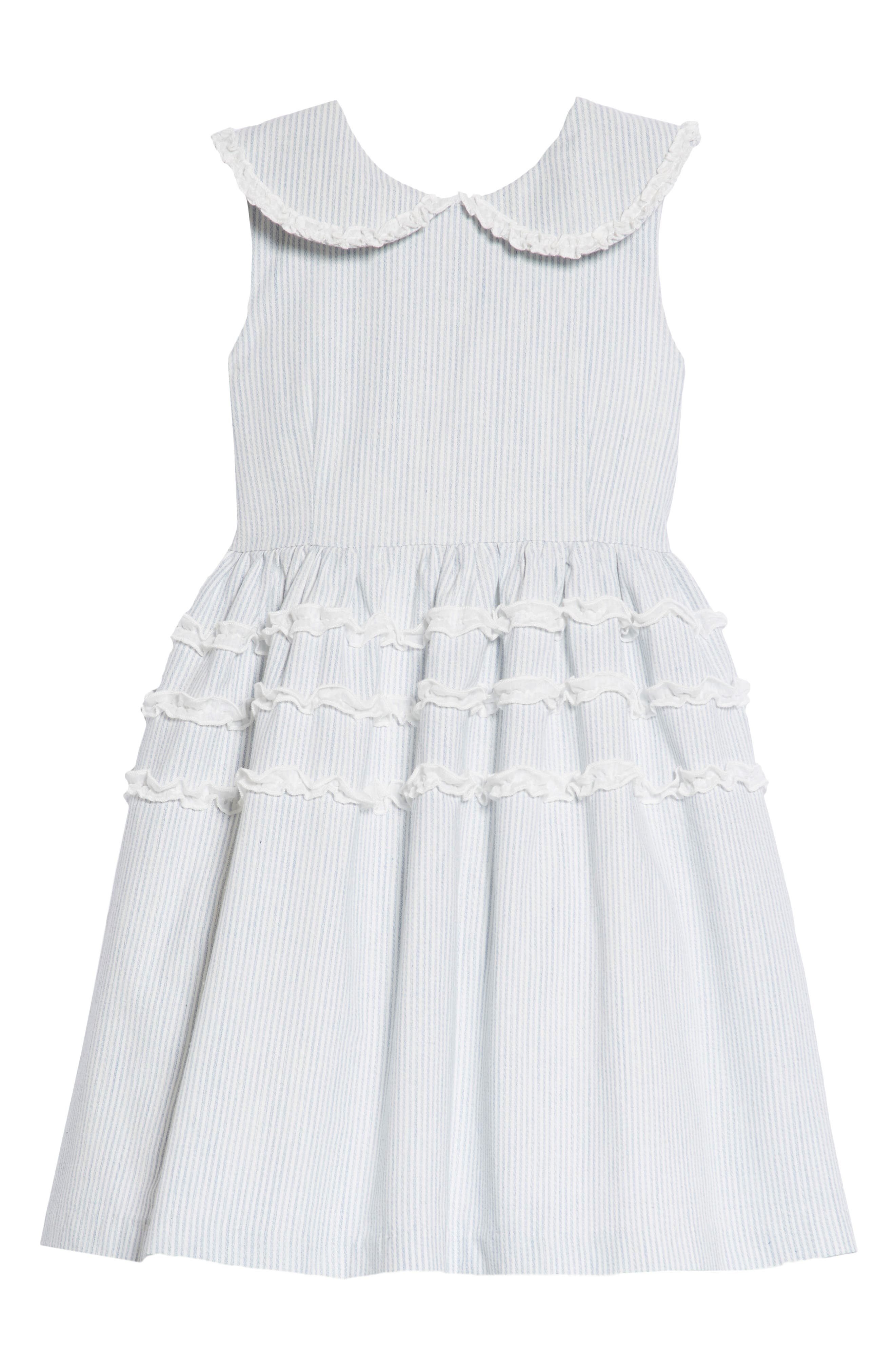 Stripe Ruffle Dress,                         Main,                         color, 402