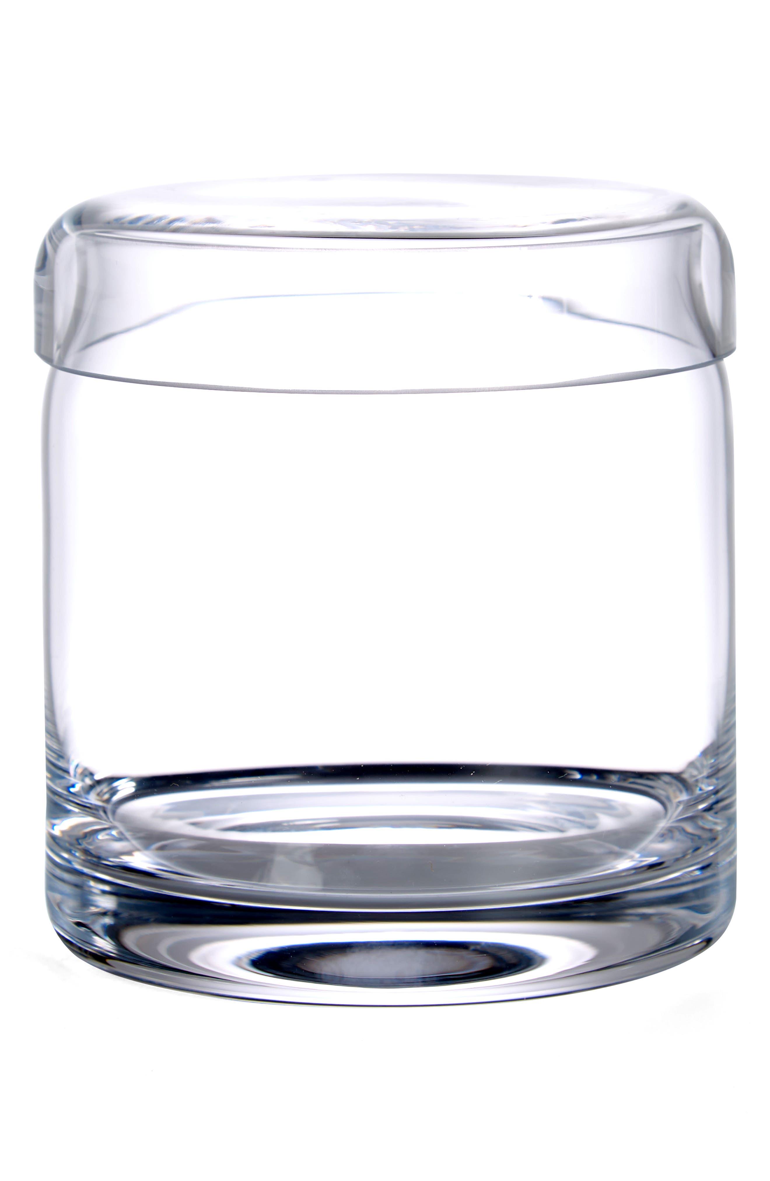 Ashby Small Glass Storage Jar,                             Main thumbnail 1, color,                             CLEAR
