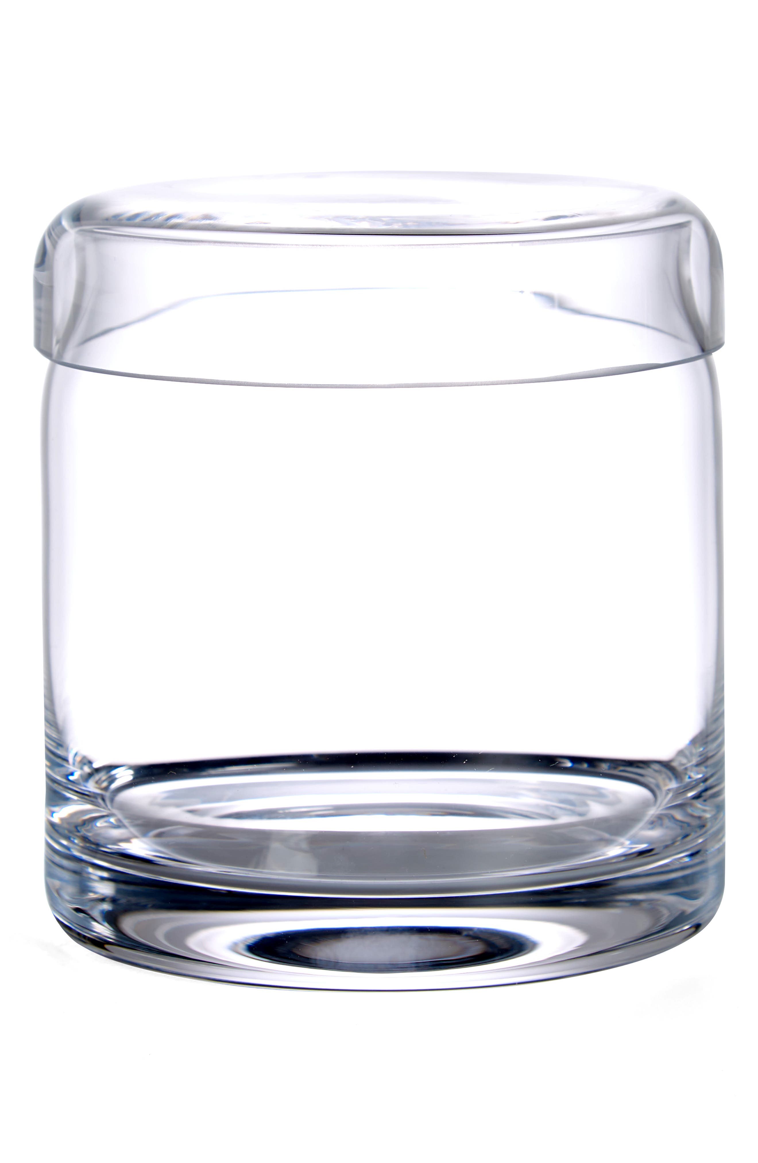 Ashby Small Glass Storage Jar, Main, color, CLEAR