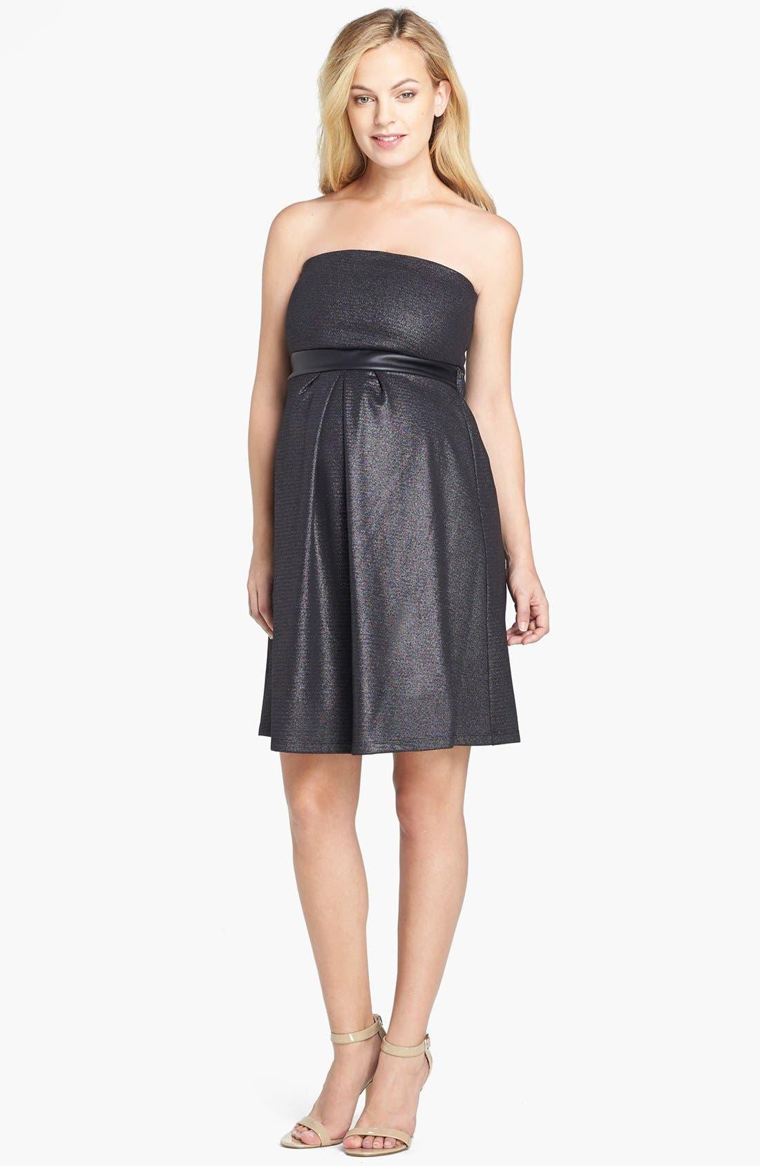 Strapless Dress,                             Main thumbnail 1, color,                             LUREX