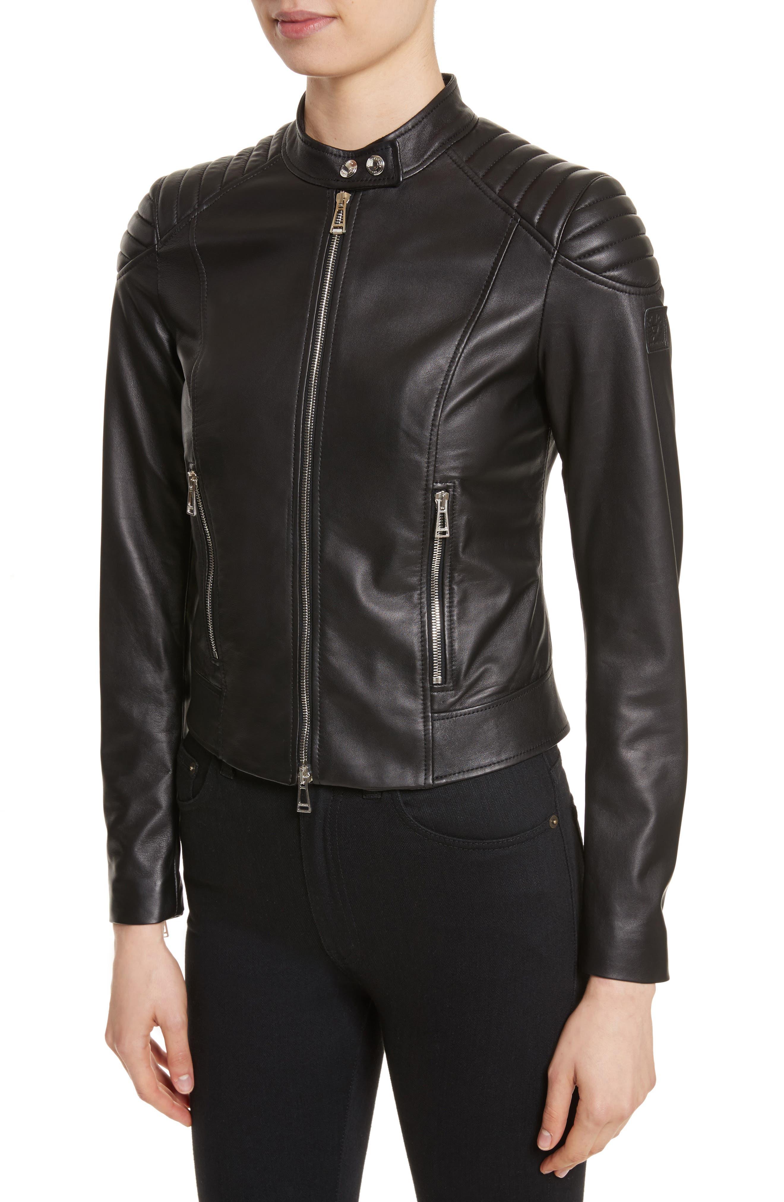 Mollison Leather Moto Jacket,                             Alternate thumbnail 10, color,