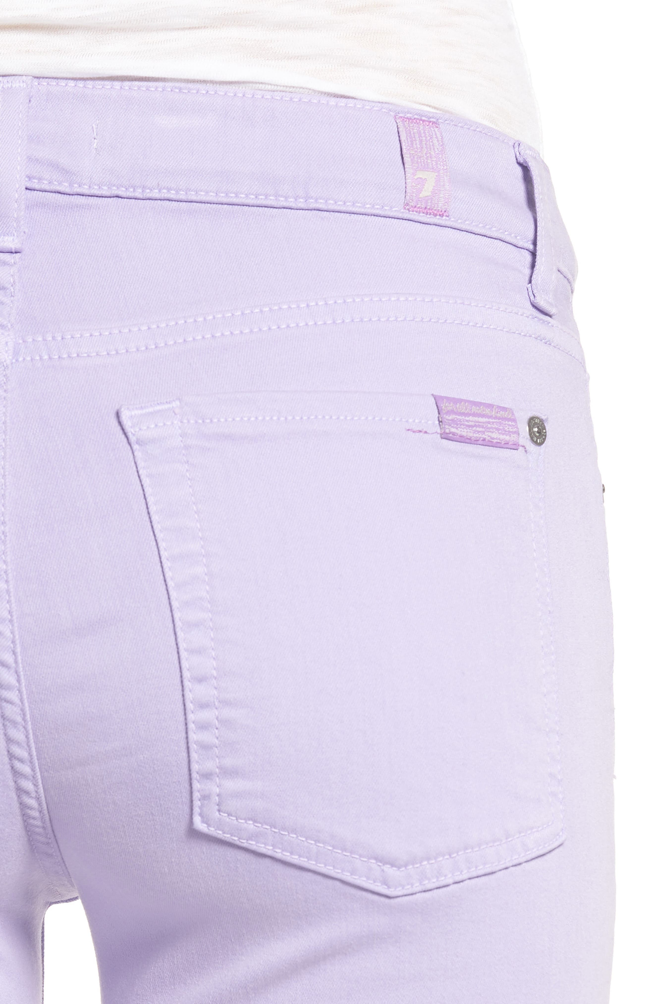 The Ankle Skinny Jeans,                             Alternate thumbnail 4, color,                             SOFT LILAC