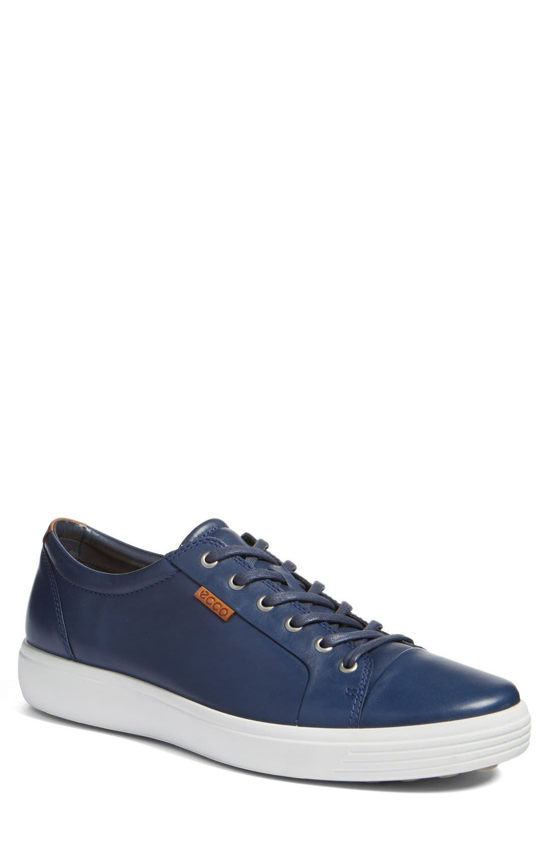 Soft VII Lace-Up Sneaker,                             Main thumbnail 1, color,                             NAVY LEATHER