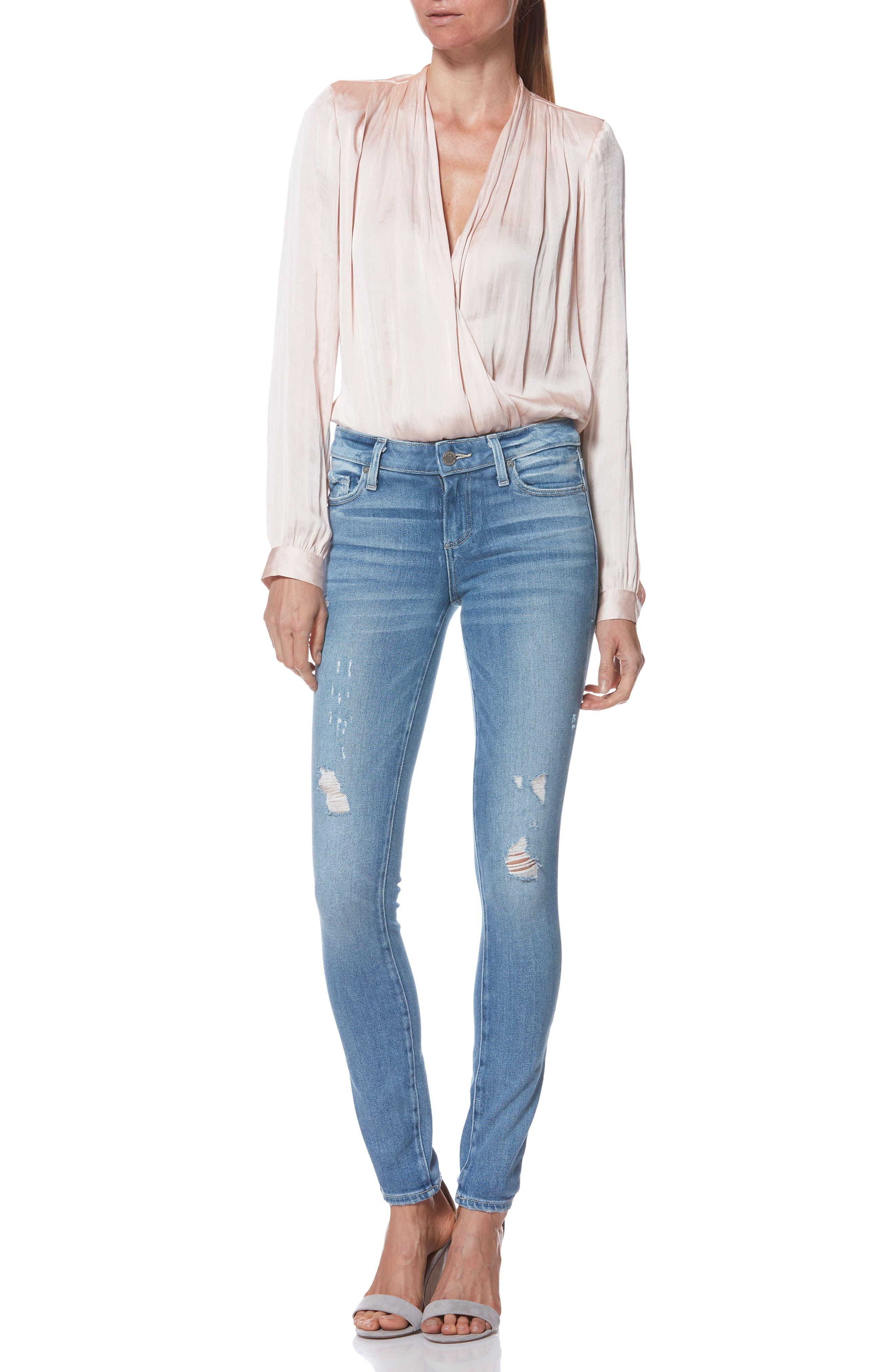 PAIGE,                             Verdugo Ultra Skinny Jeans,                             Alternate thumbnail 8, color,                             KAYSON DISTRESSED