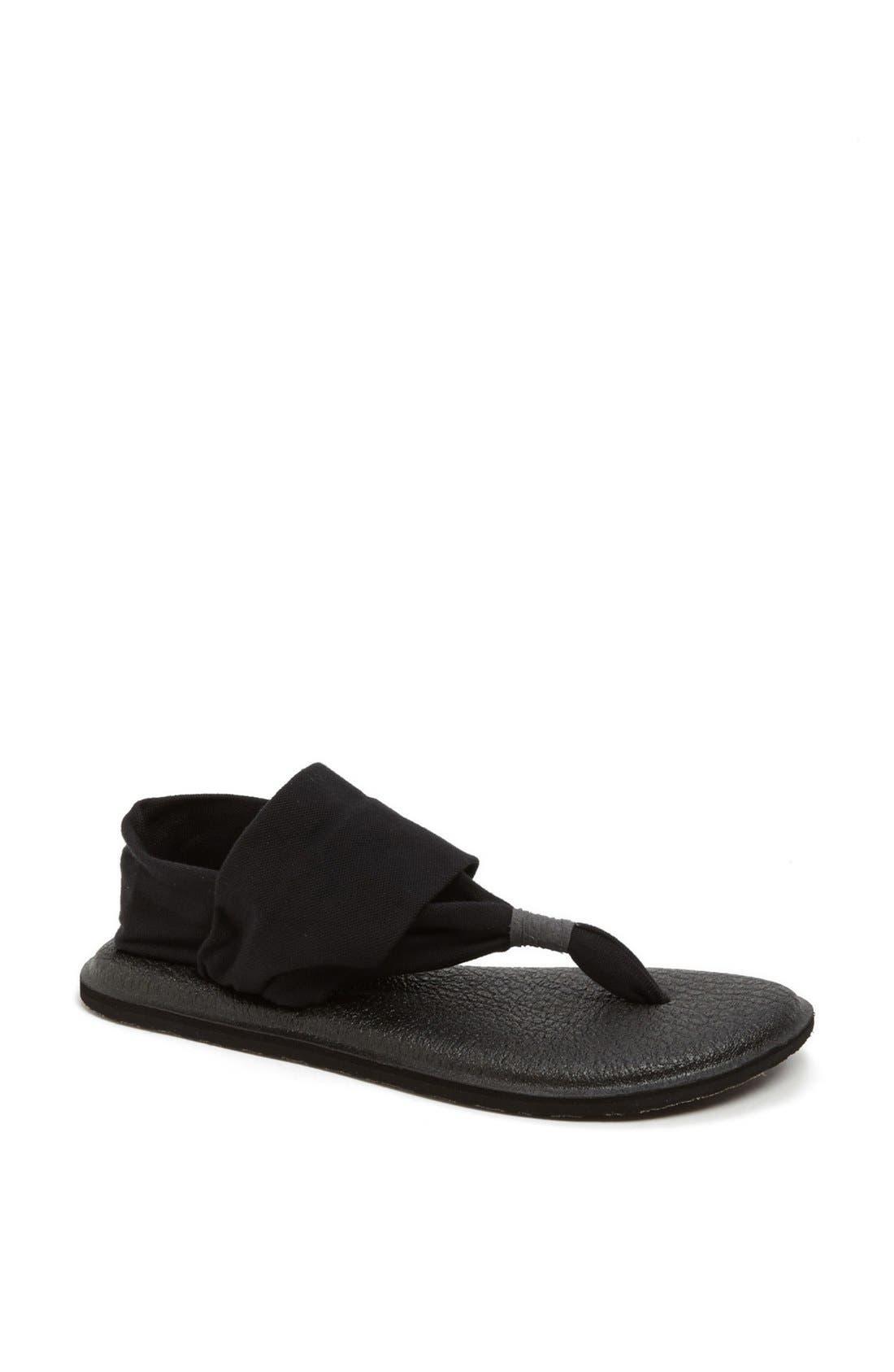 'Yoga Sling 2' Sandal,                             Main thumbnail 1, color,                             BLACK
