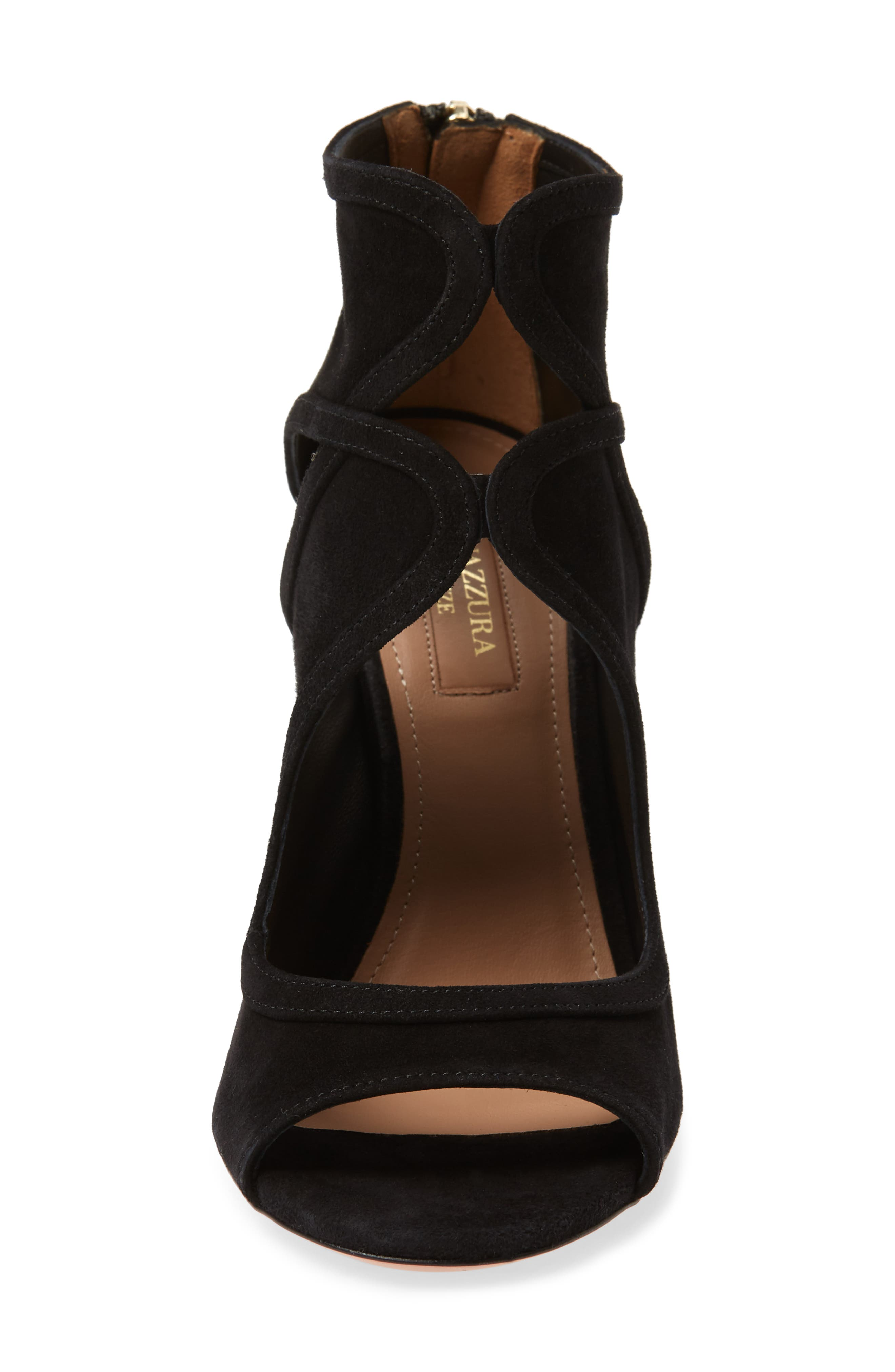 Antonia Cutout Shield Sandal,                             Alternate thumbnail 4, color,