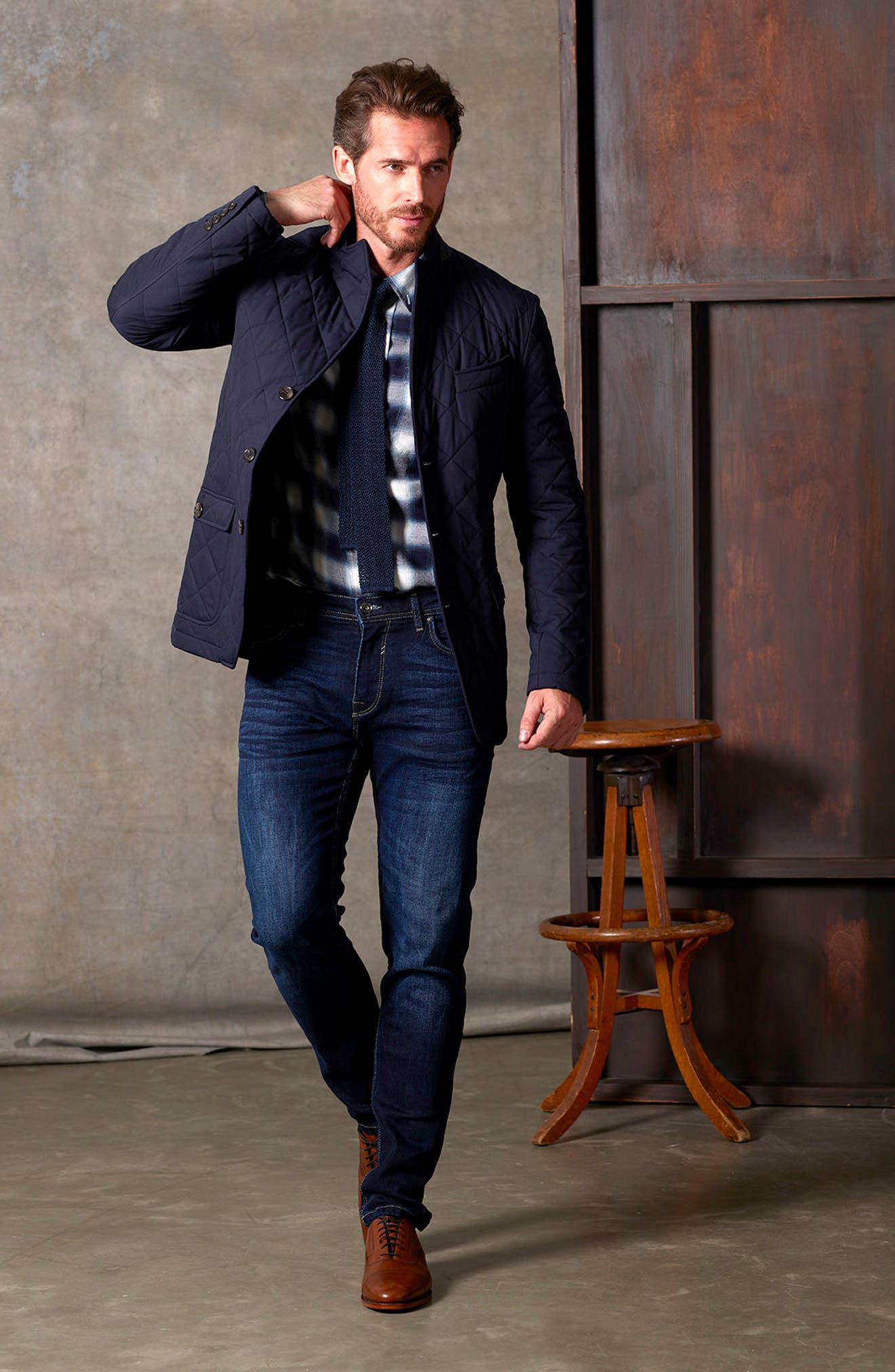 Classic Fit Quilted Blazer,                             Alternate thumbnail 13, color,