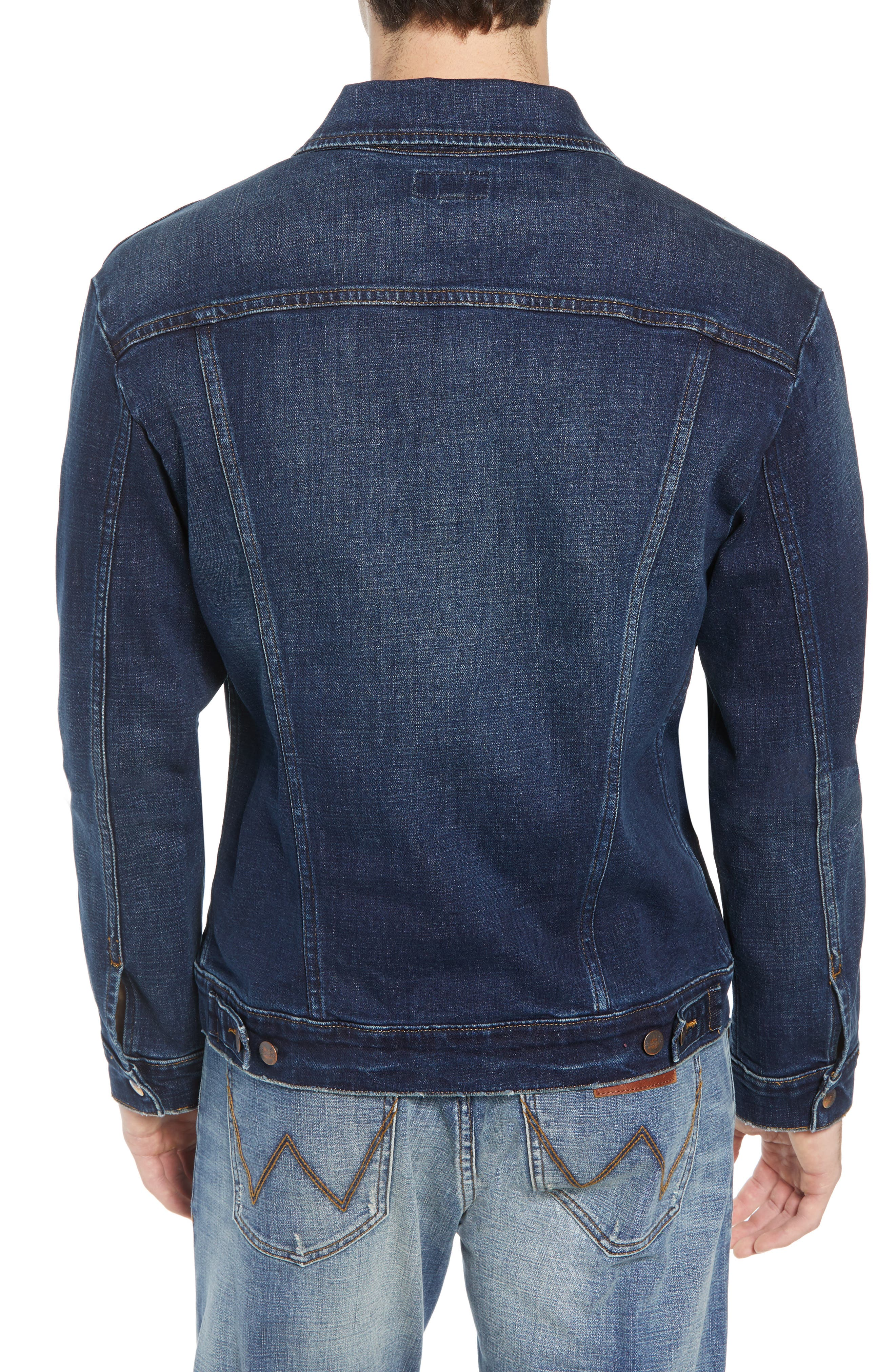 Heritage Denim Jacket,                             Alternate thumbnail 2, color,                             DARK WASH