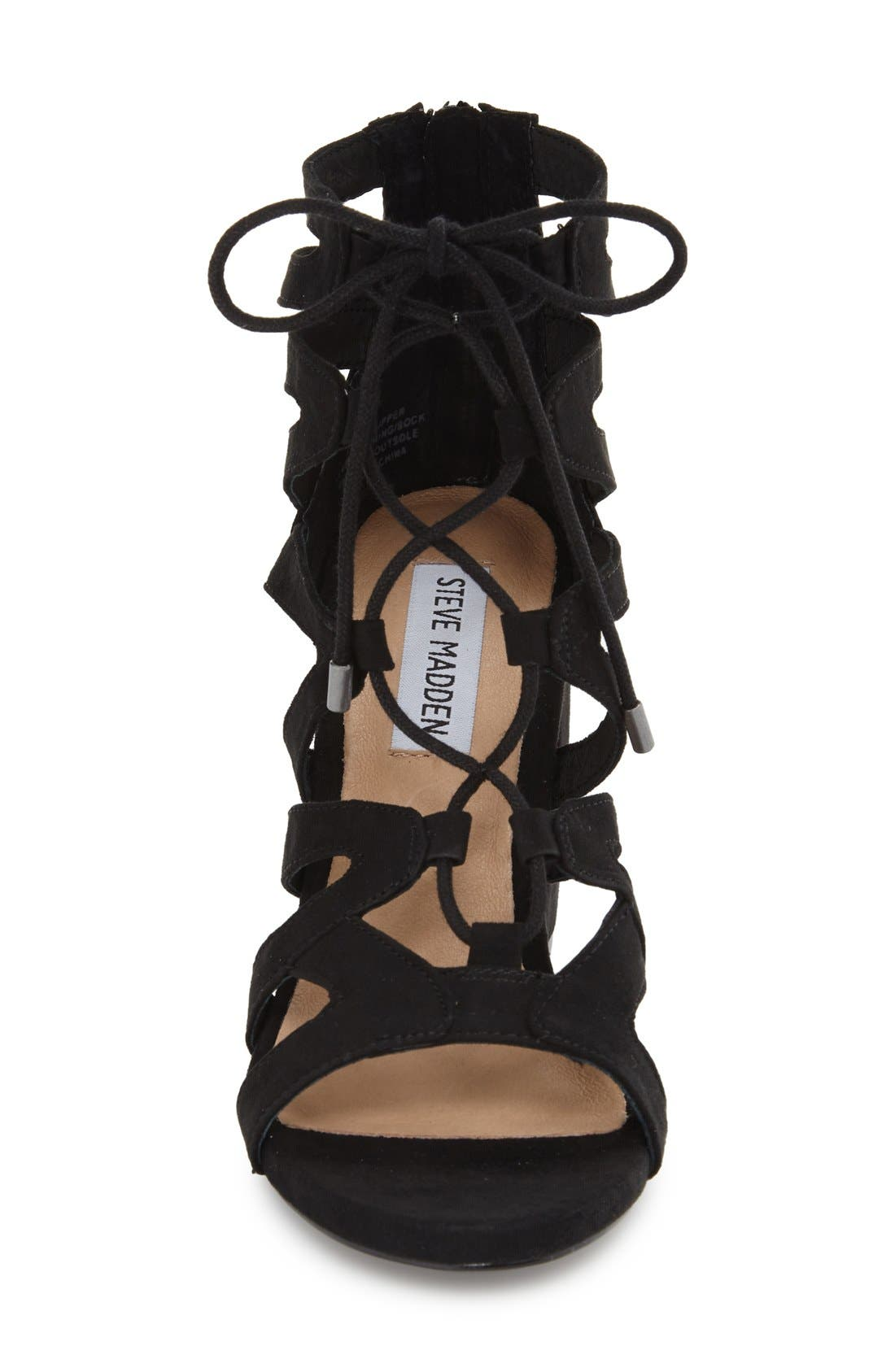'Gal' Strappy Lace-Up Sandal,                             Alternate thumbnail 3, color,                             019