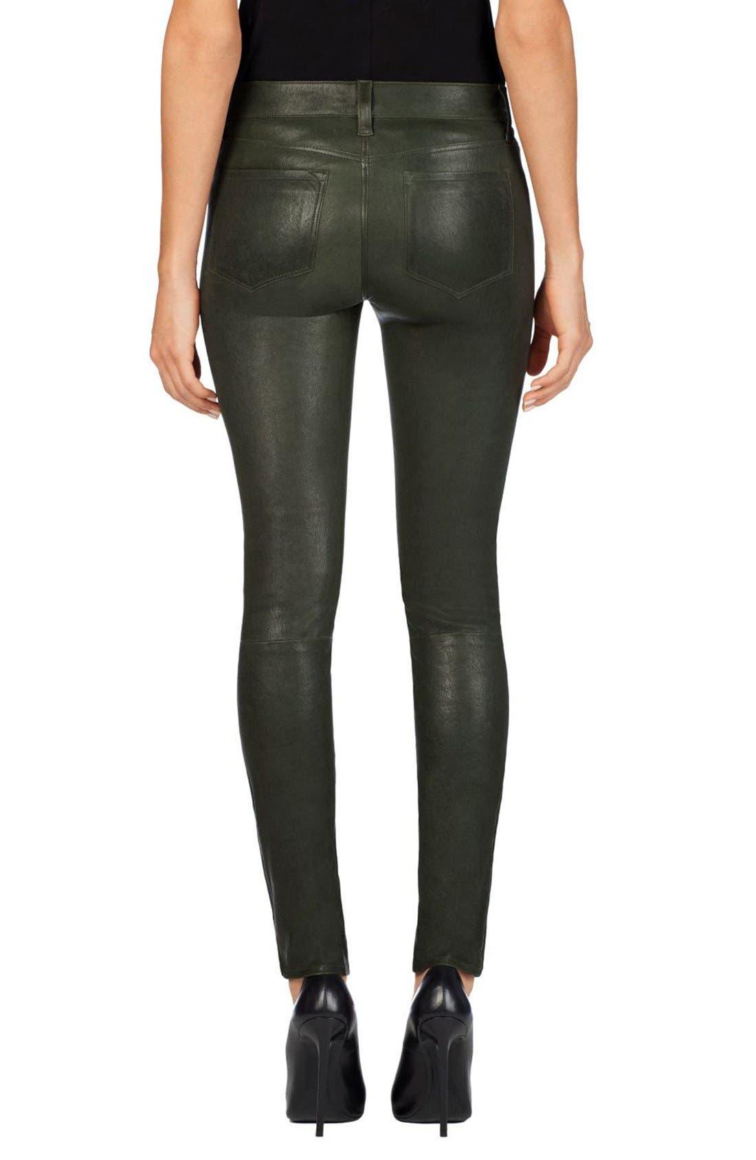 '8001' Lambskin Leather Pants,                             Alternate thumbnail 35, color,