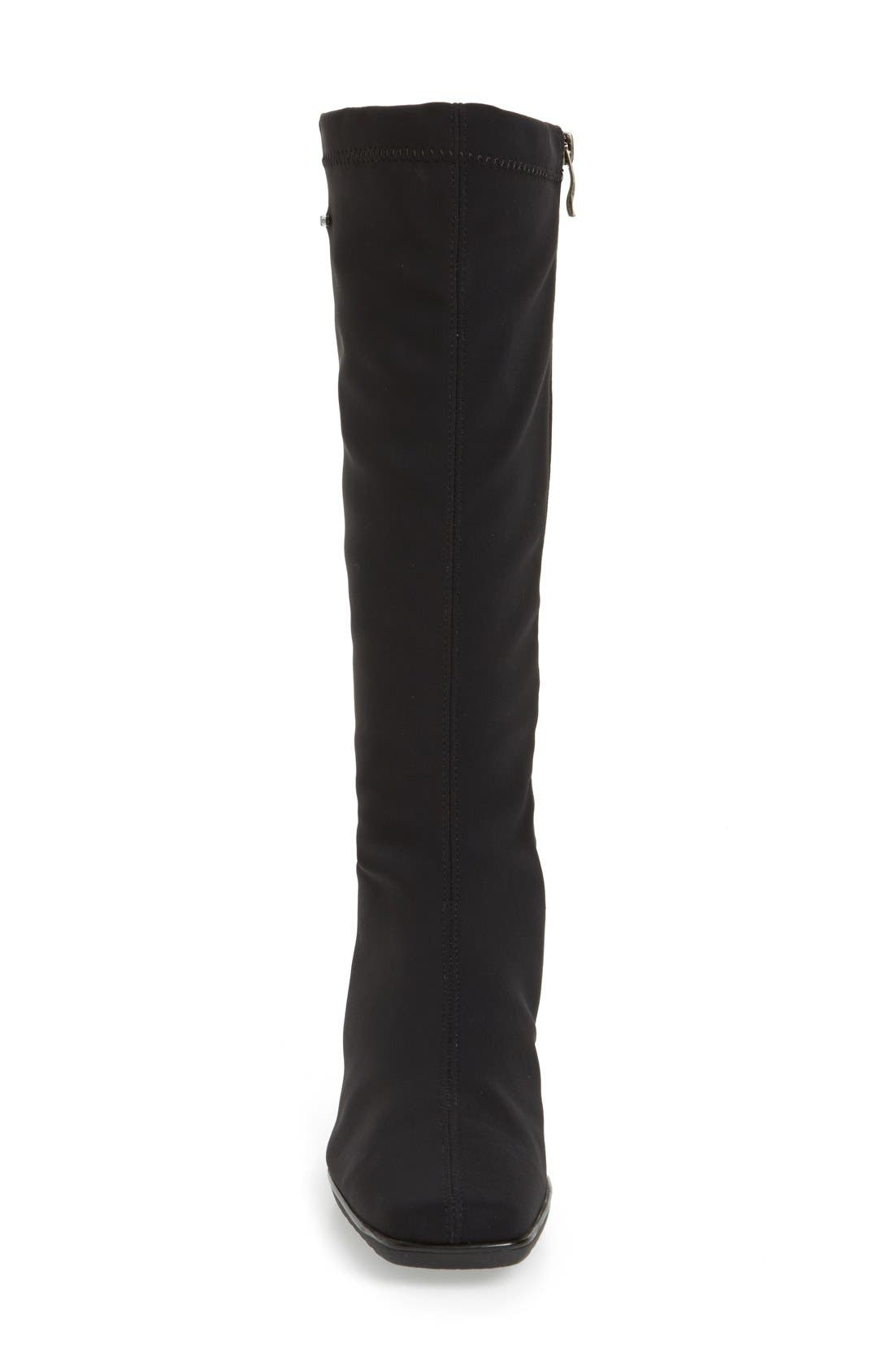'Paula' Weatherproof Gore-Tex<sup>®</sup> Boot,                             Alternate thumbnail 3, color,                             BLACK FABRIC