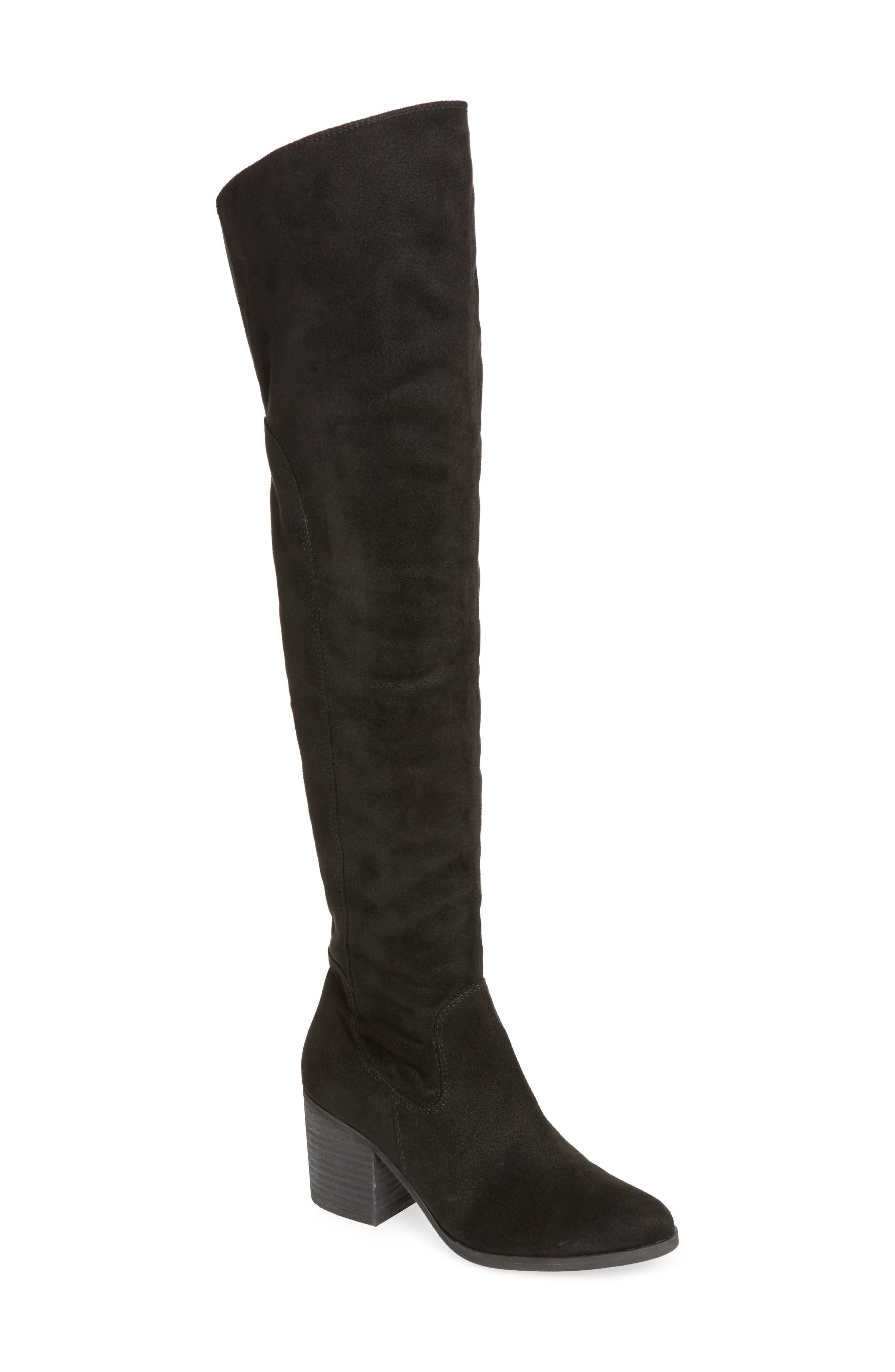 Logan Over the Knee Boot,                             Main thumbnail 1, color,                             001