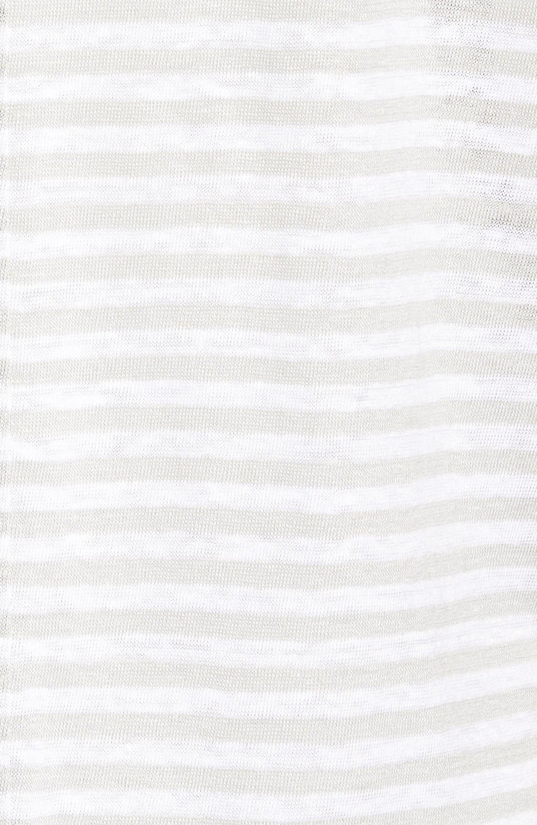 CASLON<SUP>®</SUP>,                             Cuff Sleeve One-Pocket Stripe Tee,                             Alternate thumbnail 3, color,                             050