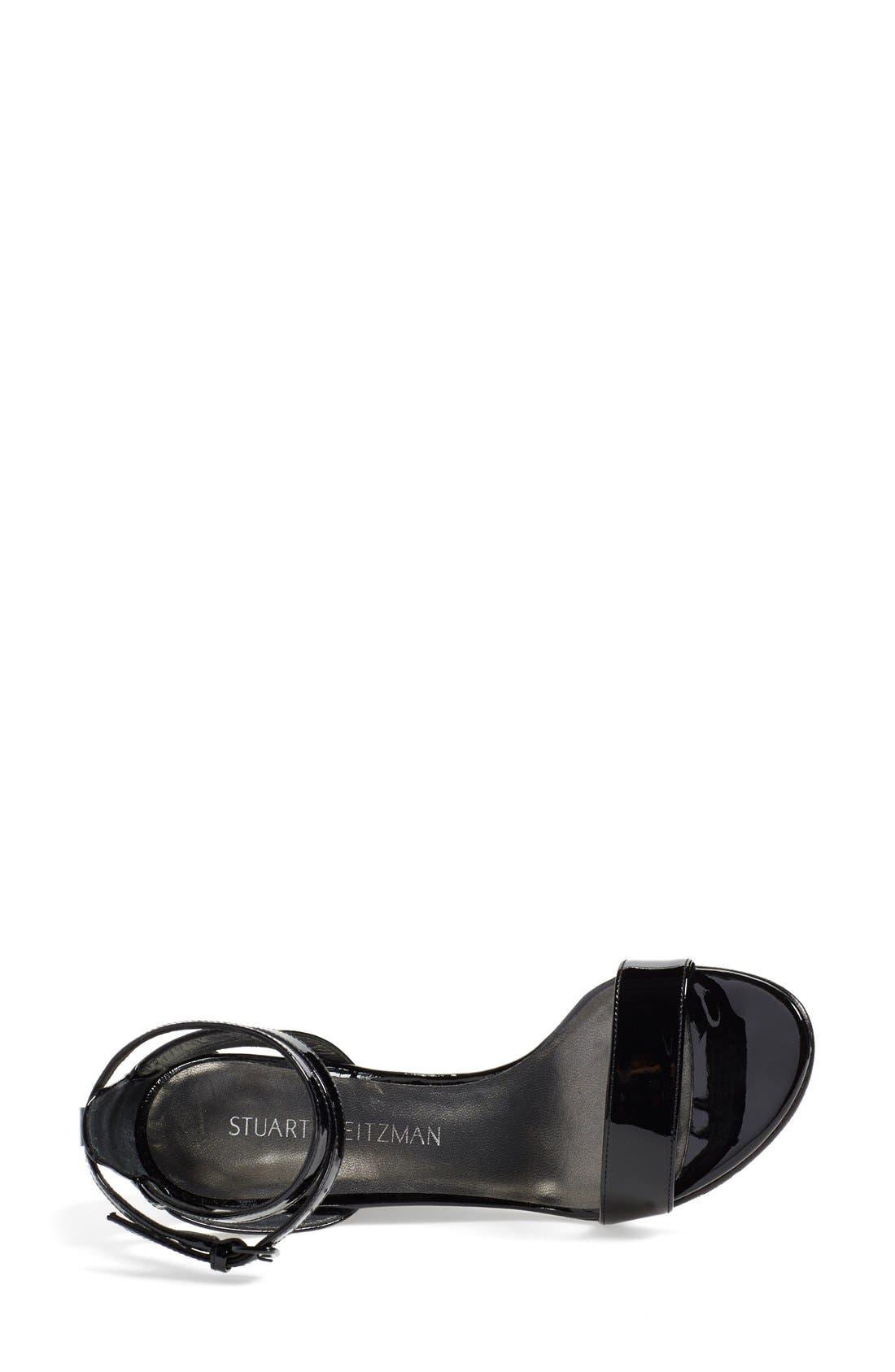 'Backdraft' Ankle Strap Wedge Sandal,                             Alternate thumbnail 3, color,                             002