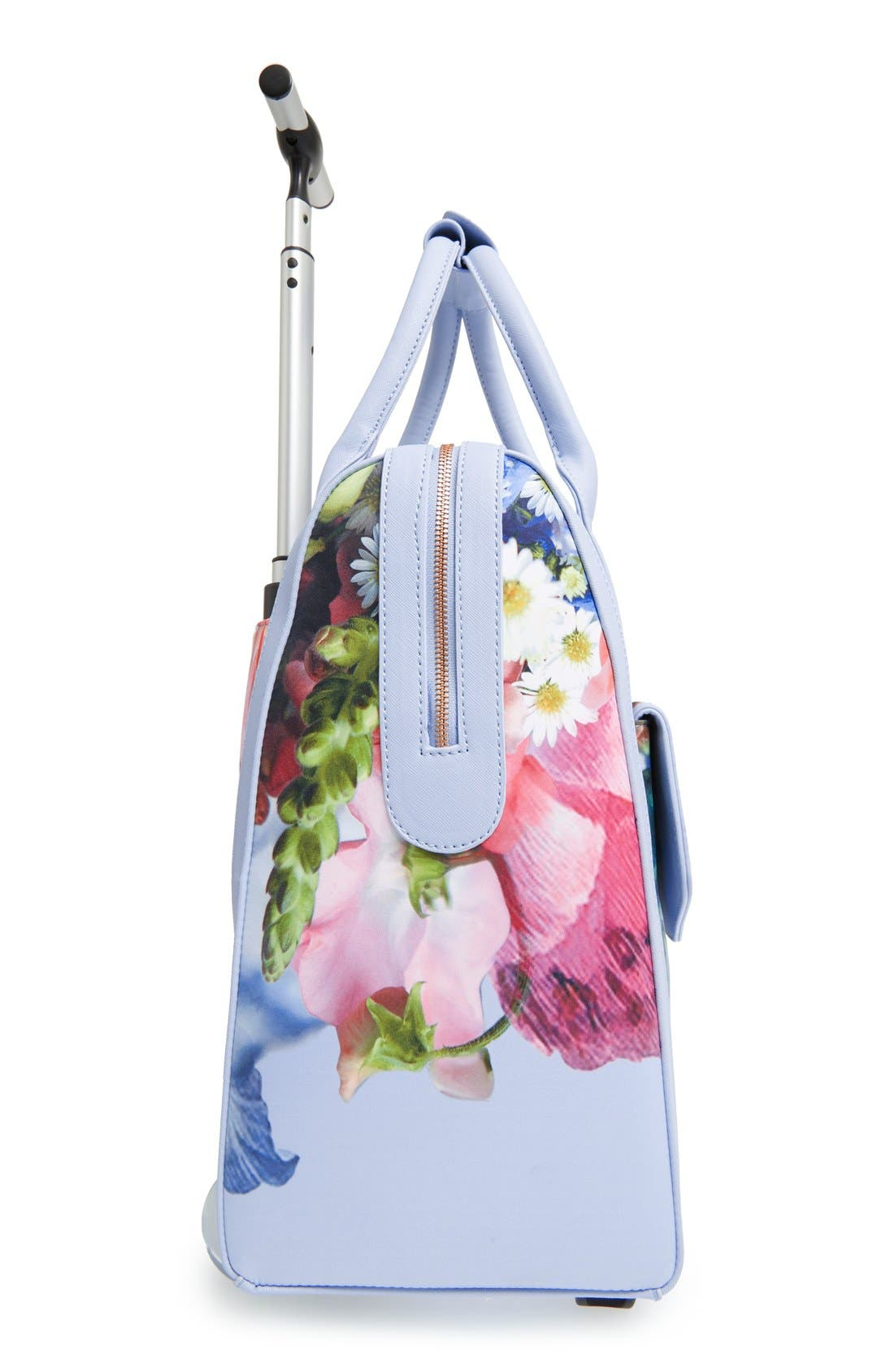 TED BAKER LONDON,                             'Vickey Floral Focus' Travel Bag,                             Alternate thumbnail 3, color,                             400