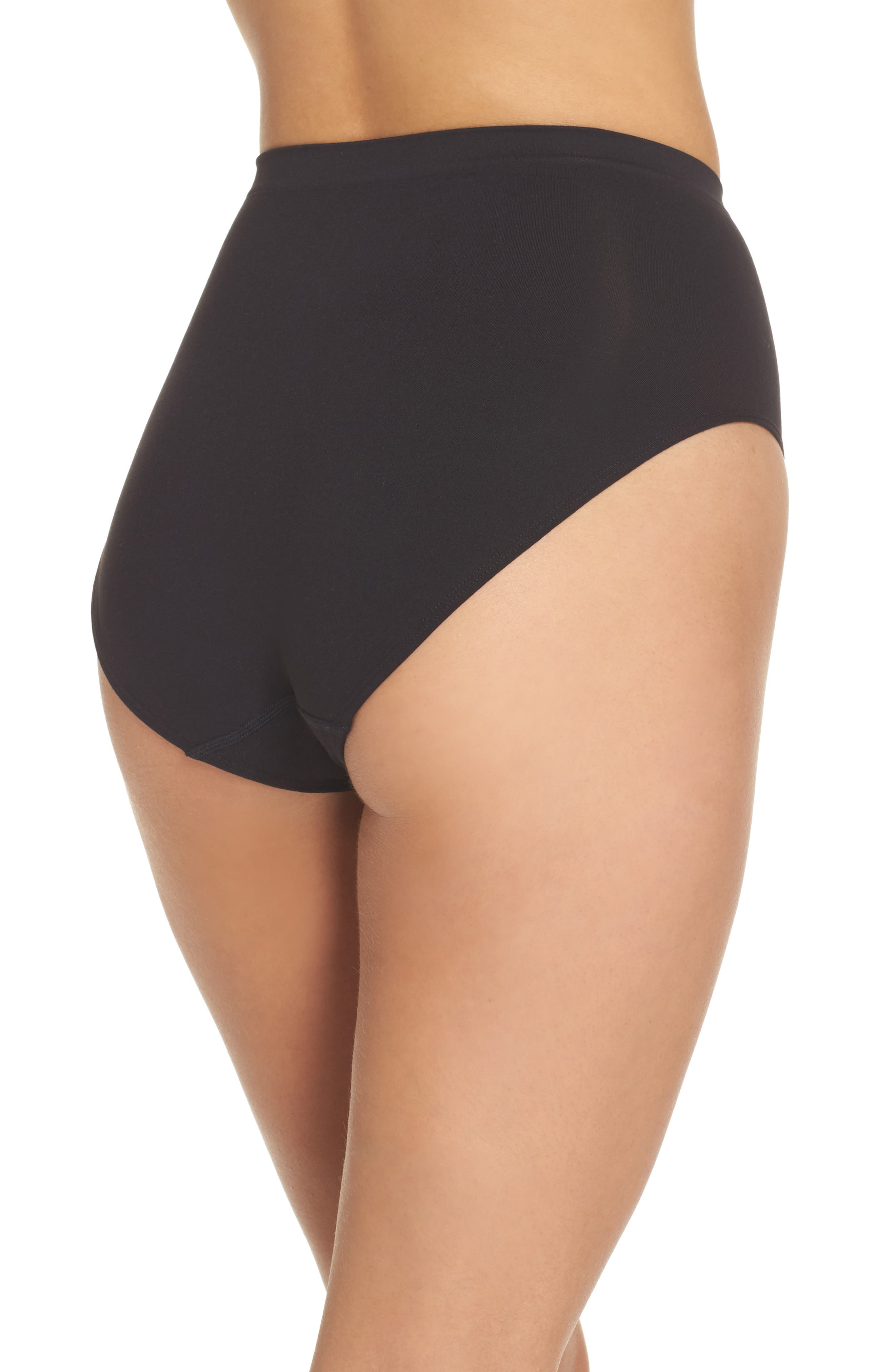 HALOGEN<SUP>®</SUP>,                             High Waist Seamless Briefs,                             Alternate thumbnail 2, color,                             BLACK