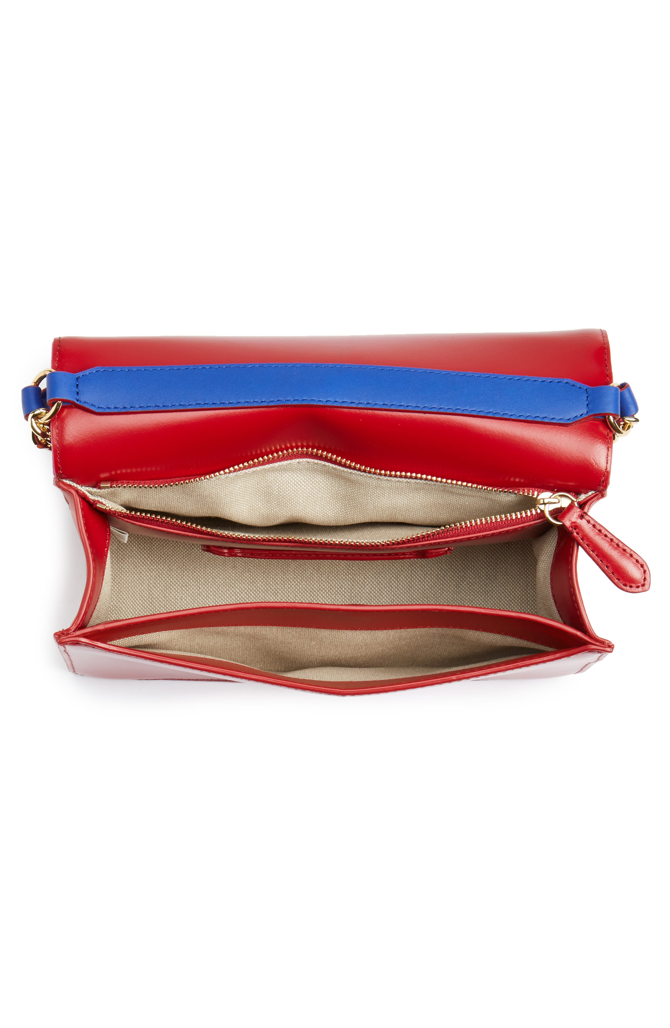 Soirée Satin & Leather Top Handle Bag,                             Alternate thumbnail 4, color,