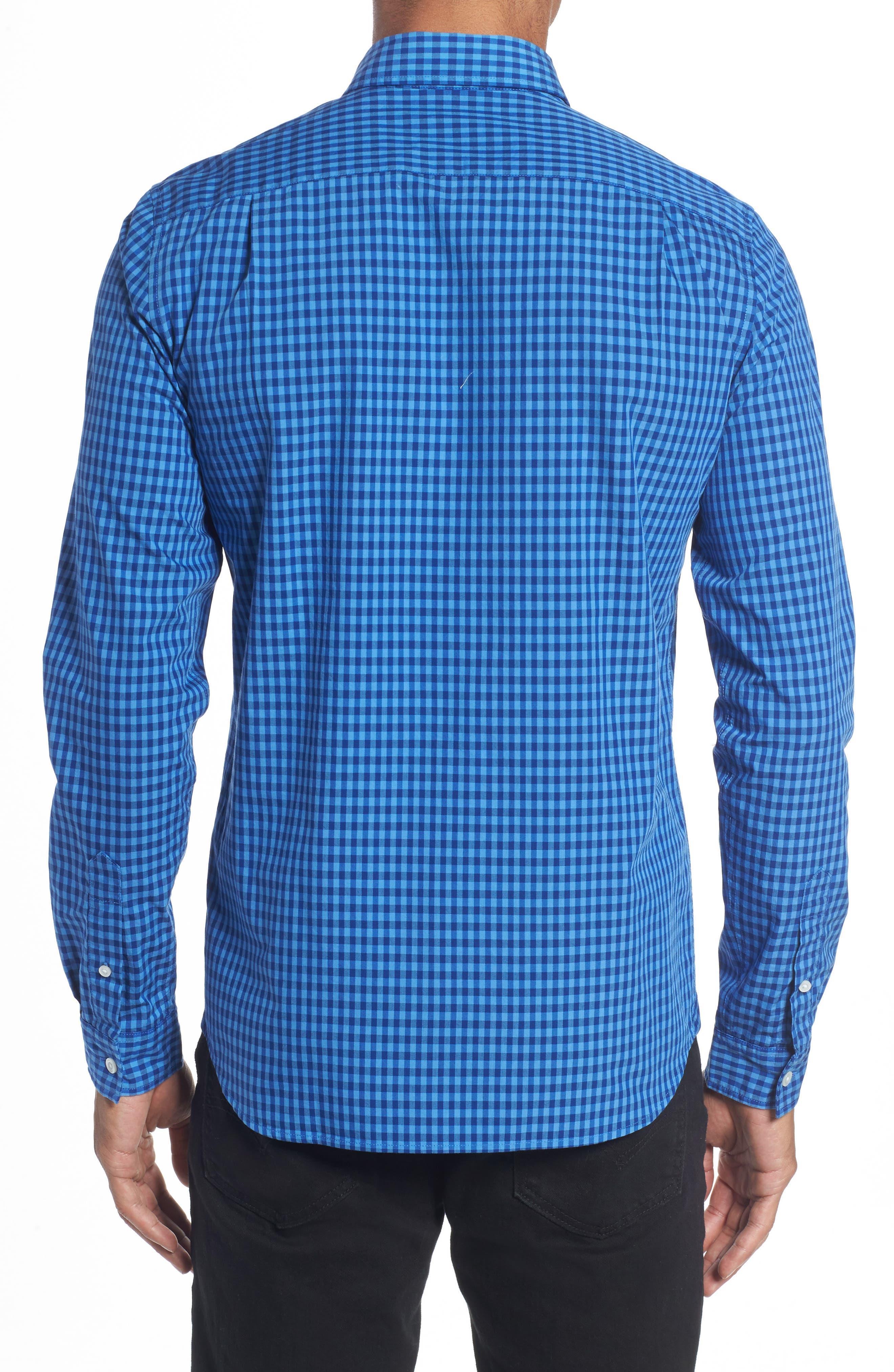 Gingham Check Poplin Shirt,                             Alternate thumbnail 2, color,                             493