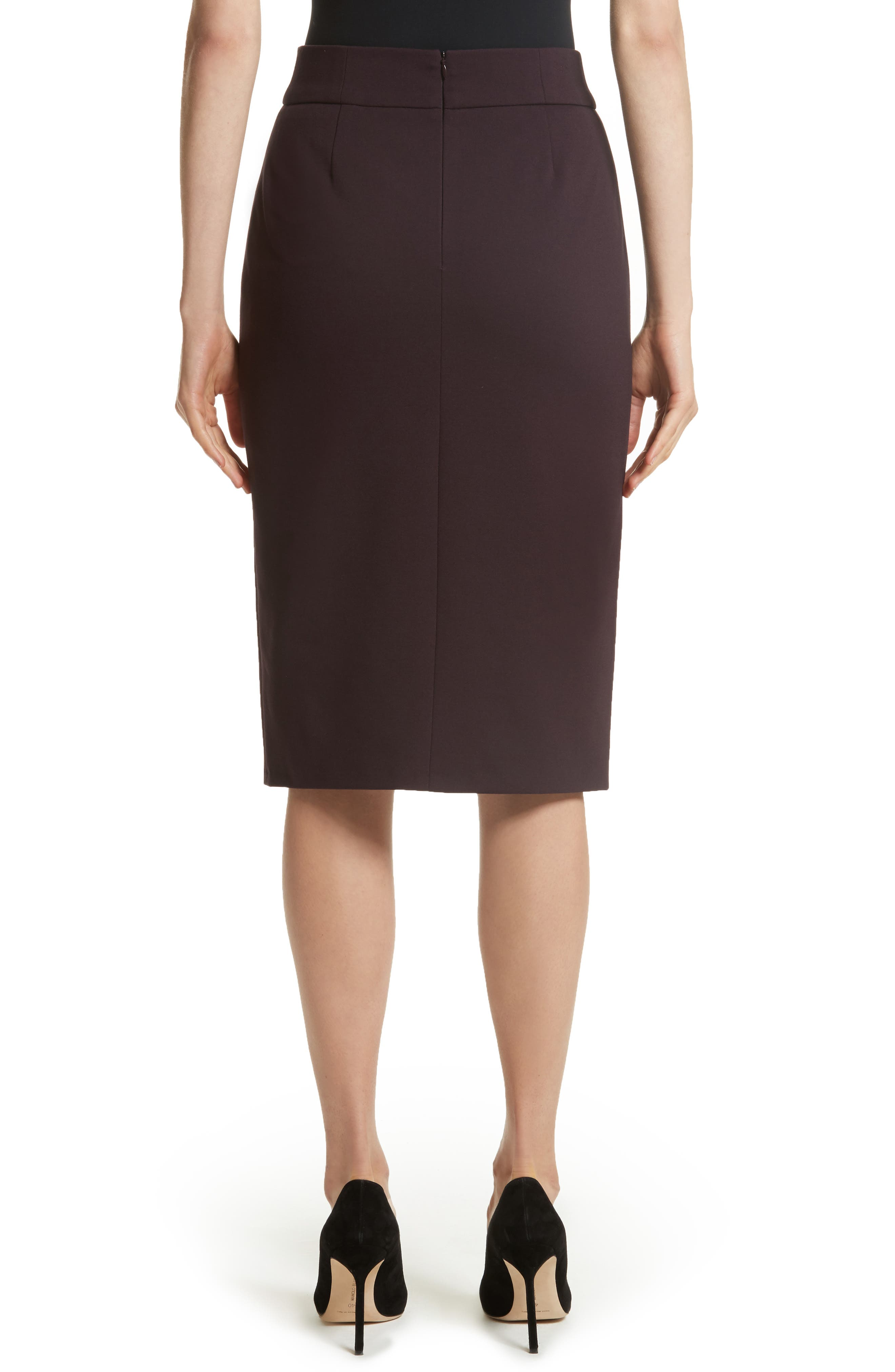 Gabardine Pencil Skirt,                             Alternate thumbnail 2, color,                             930