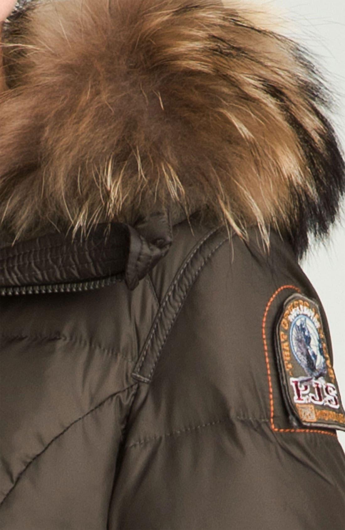 Down Coat with Genuine Raccoon Fur Trim,                             Alternate thumbnail 3, color,                             200